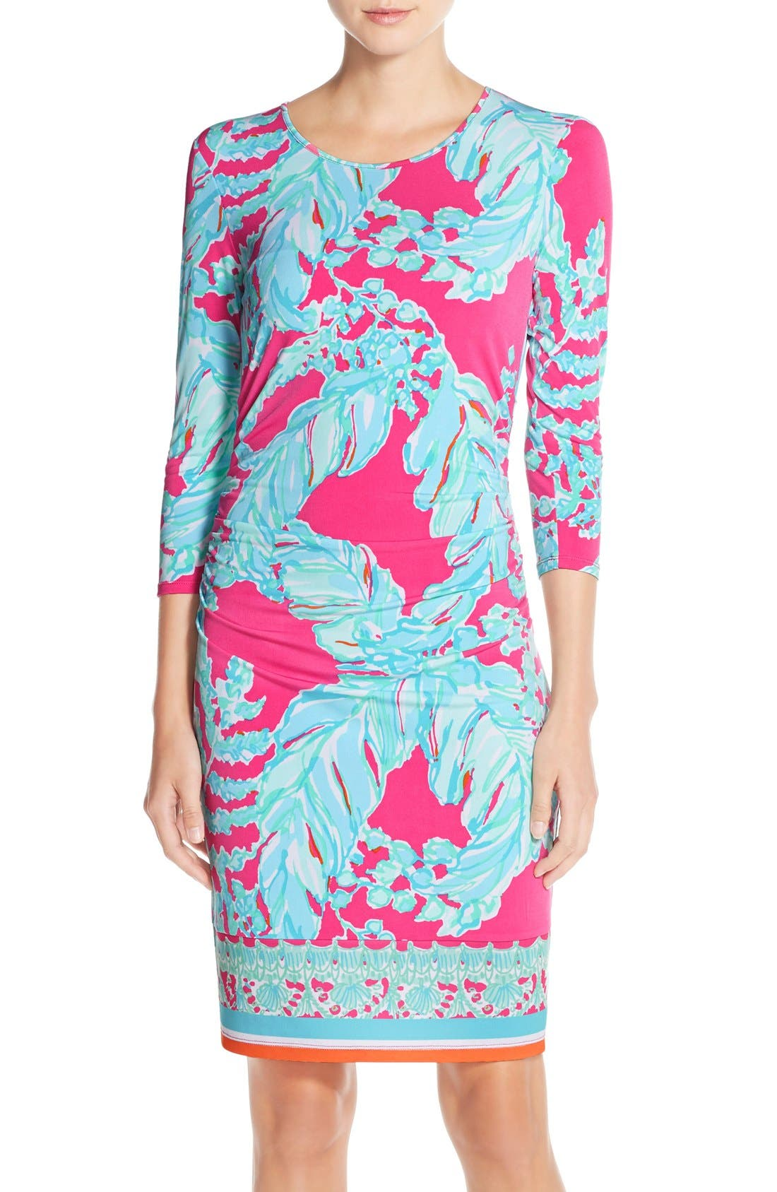 Alternate Image 1 Selected - Lilly Pulitzer® 'Madison' Ruched Jersey Sheath Dress