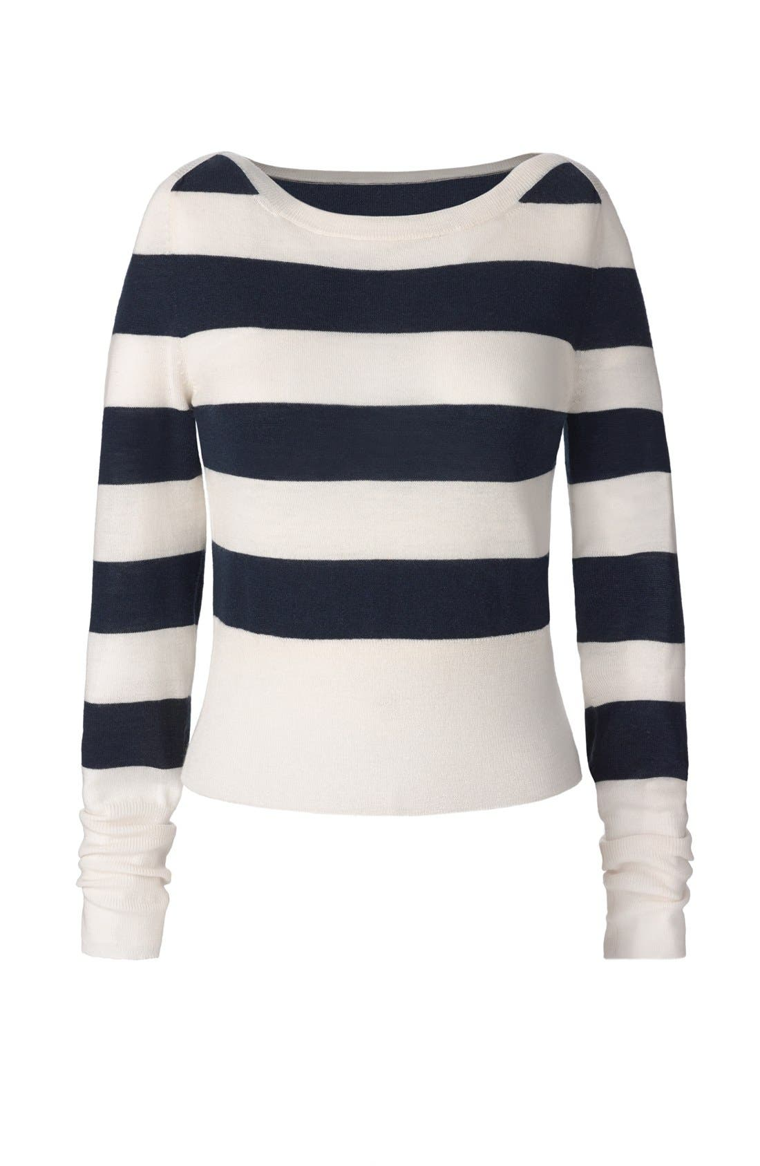 Alternate Image 7  - Olivia Palermo + Chelsea28 Stripe Wool & Cashmere Pullover