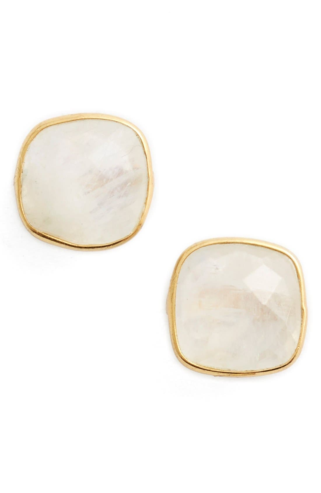Alternate Image 1 Selected - Argento Vivo Semiprecious Stone Stud Earrings