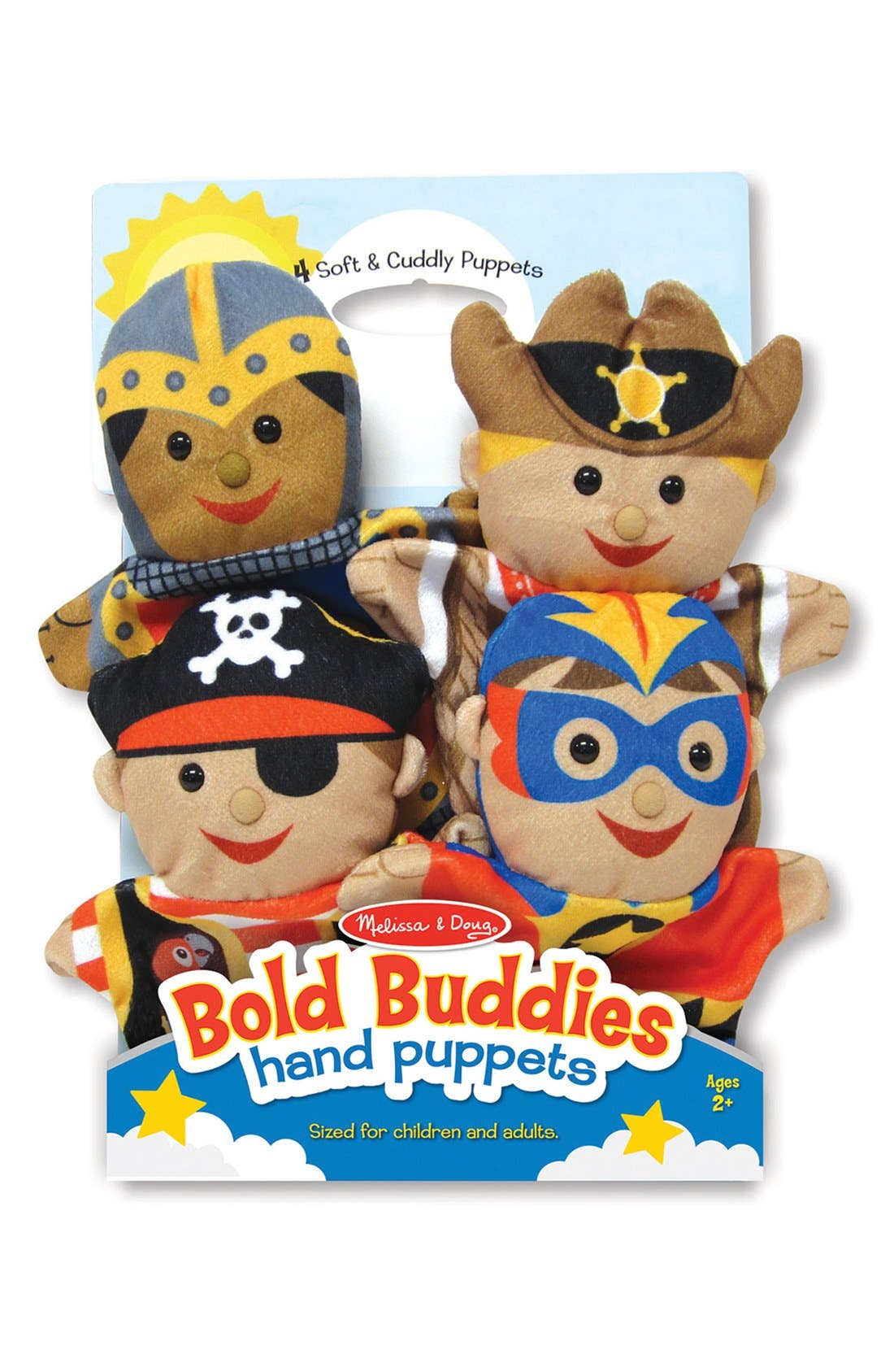 'Brave Buddies' Hand Puppets,                         Main,                         color, Brown