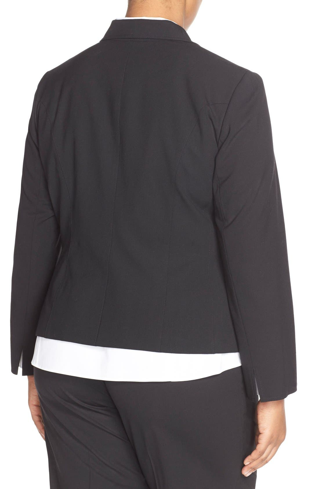 Alternate Image 2  - Lafayette 148 New York 'Gladstone' Stretch Wool Jacket (Plus Size) (Nordstrom Exclusive)