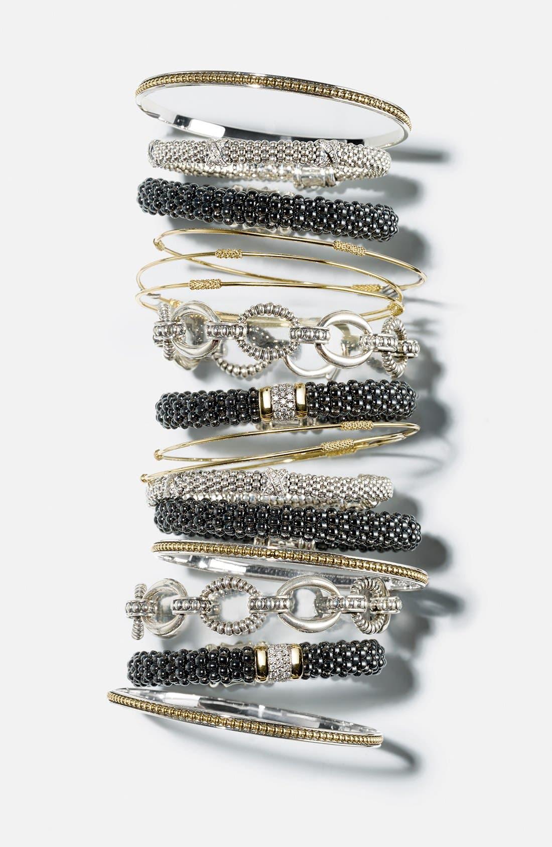 Alternate Image 2  - LAGOS 'Black Caviar' Diamond Rope Bracelet