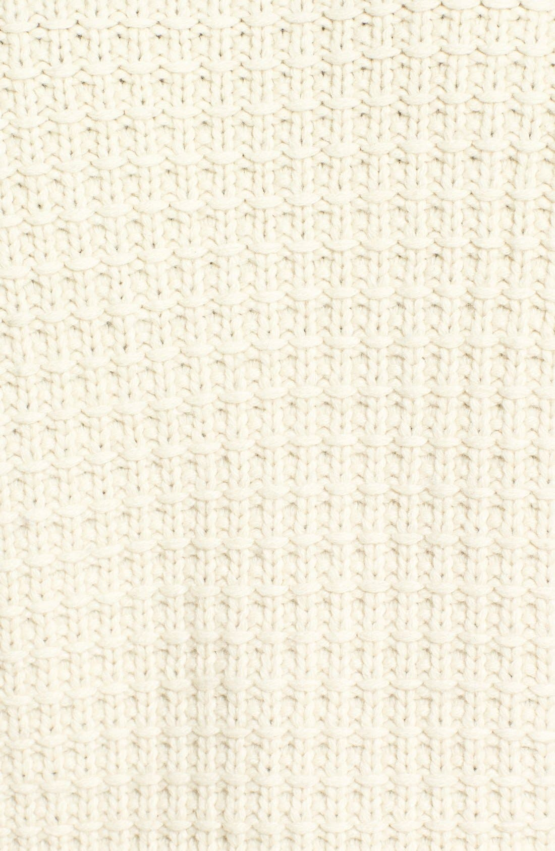 Shawl Collar Knit Pullover,                             Alternate thumbnail 5, color,                             Off White