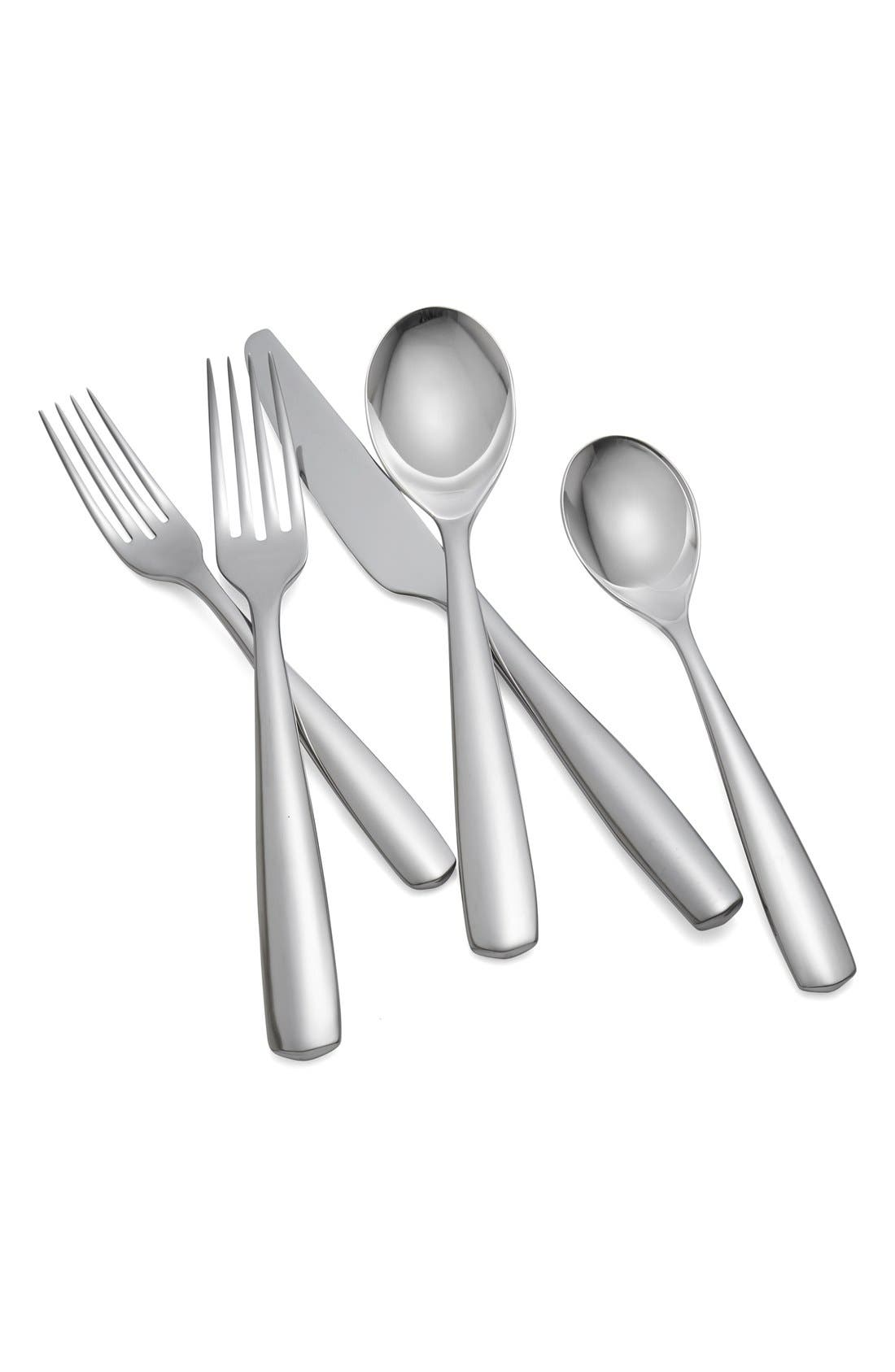'Fjord' 5-Piece Place Setting,                         Main,                         color, Silver