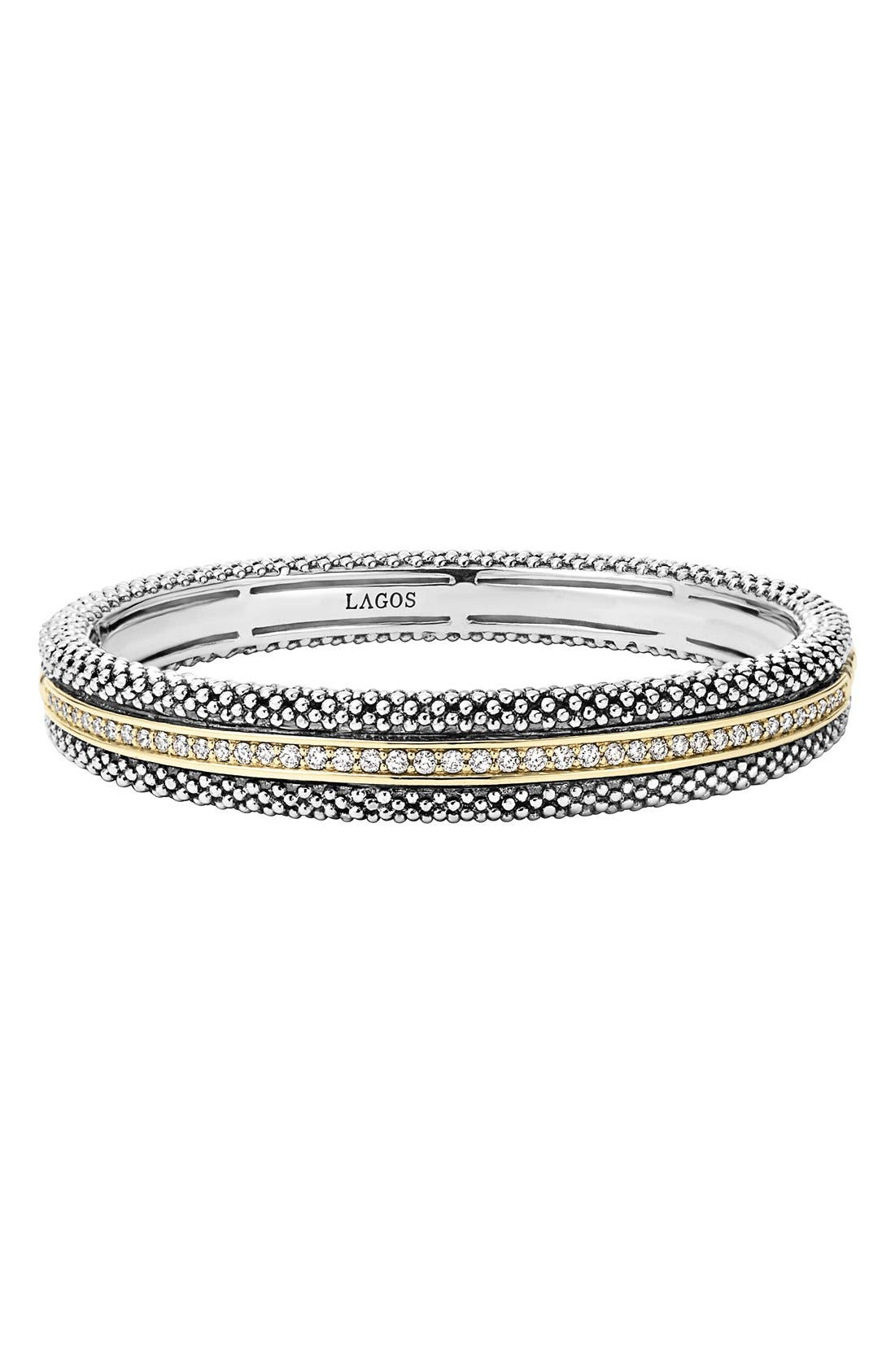 LAGOS Diamond Caviar Bangle Bracelet