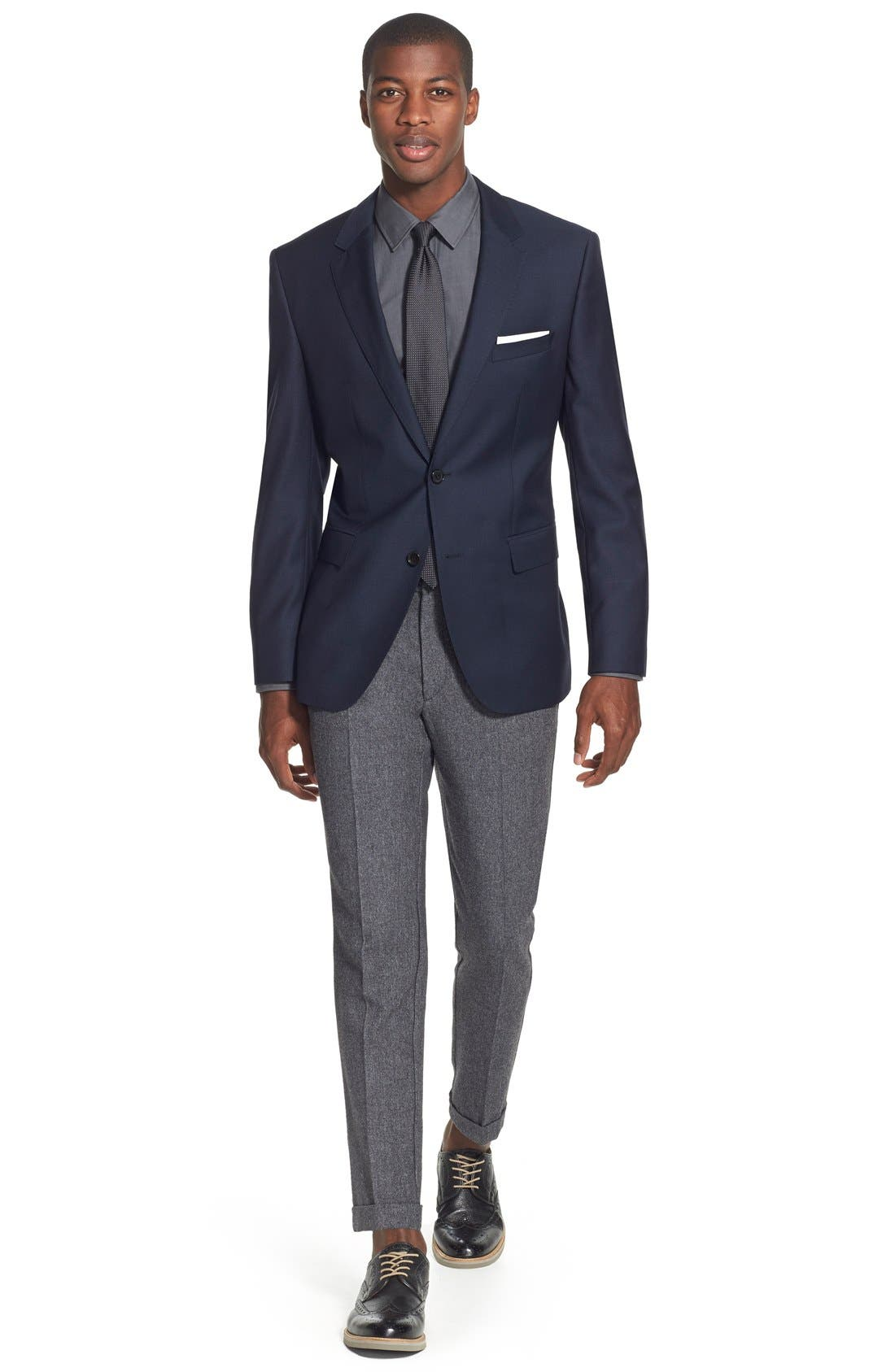 James Classic Fit Wool Blazer,                             Alternate thumbnail 6, color,                             Navy