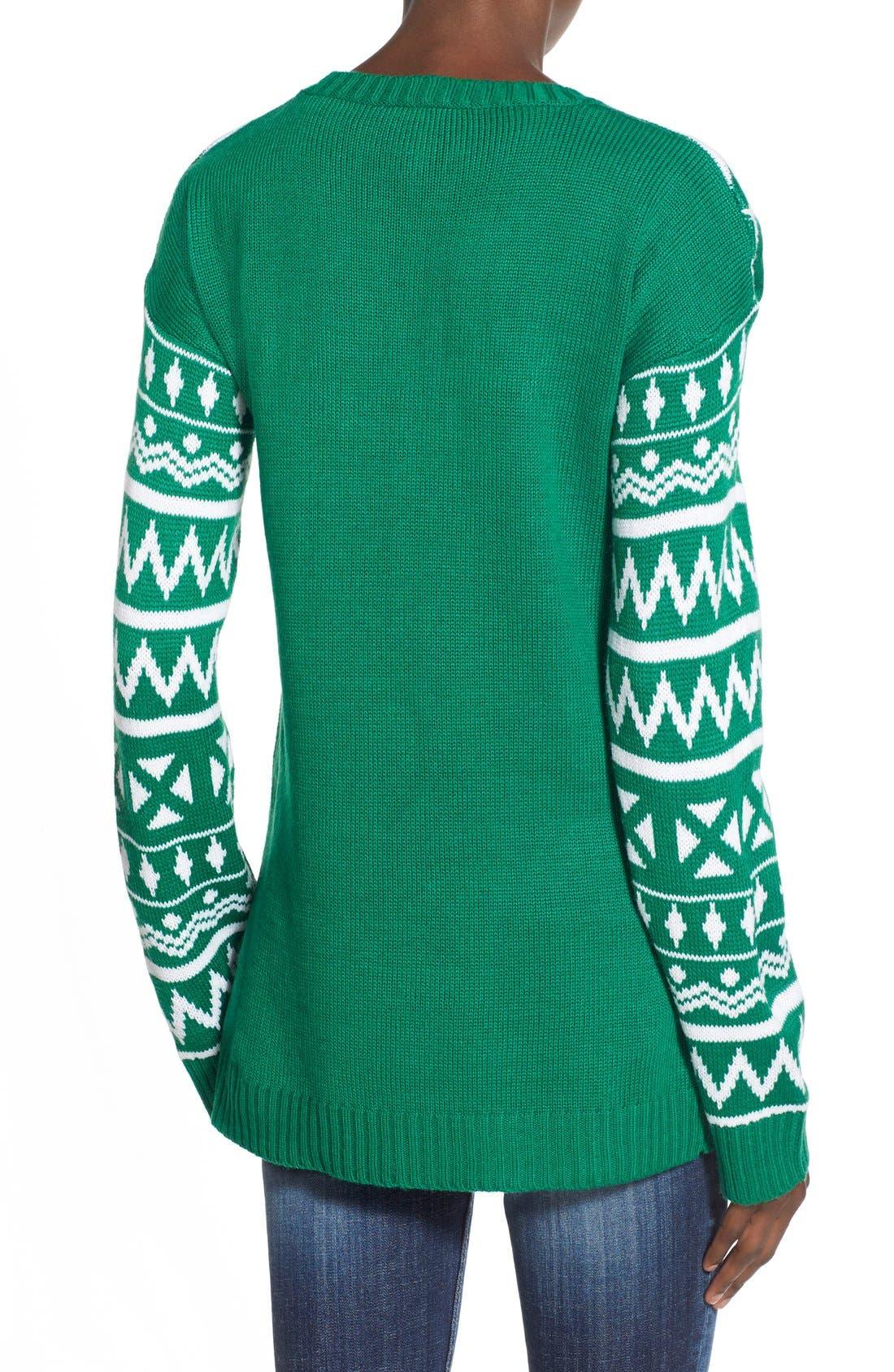 Alternate Image 2  - Derek Heart 'Snow Globe' Musical Christmas Sweater