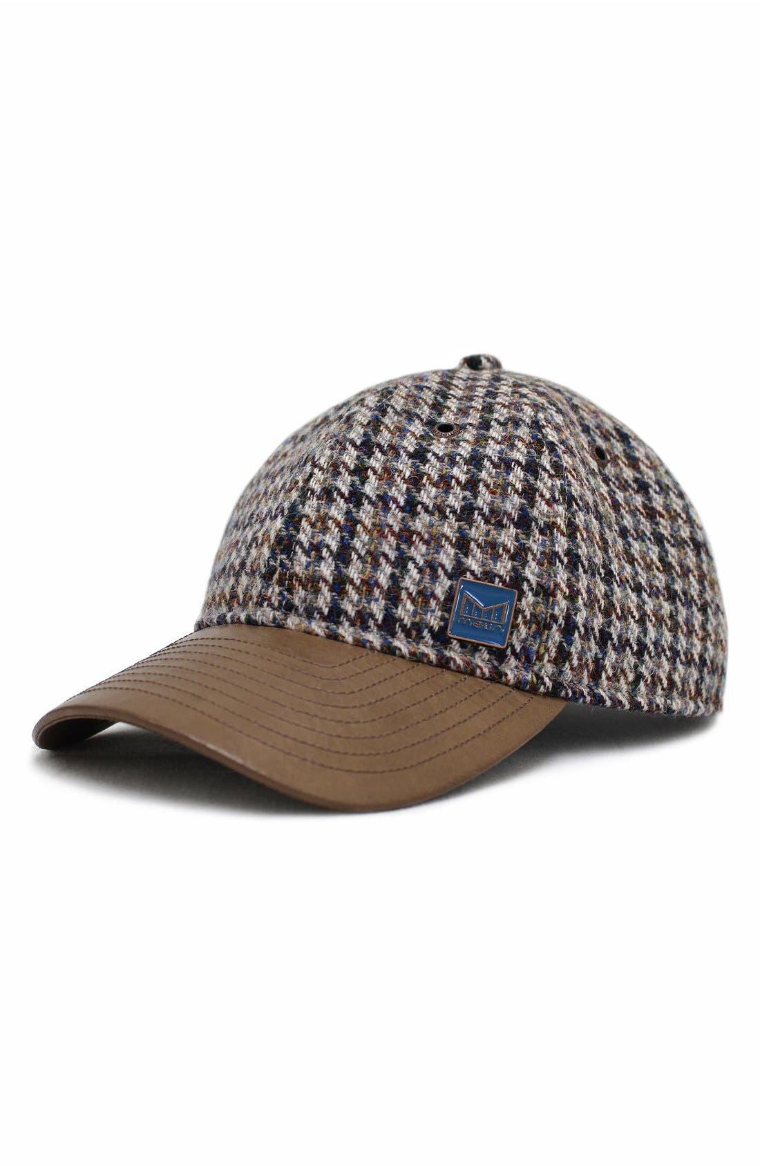 MELIN The Voyage Tweed & Leather Baseball Cap