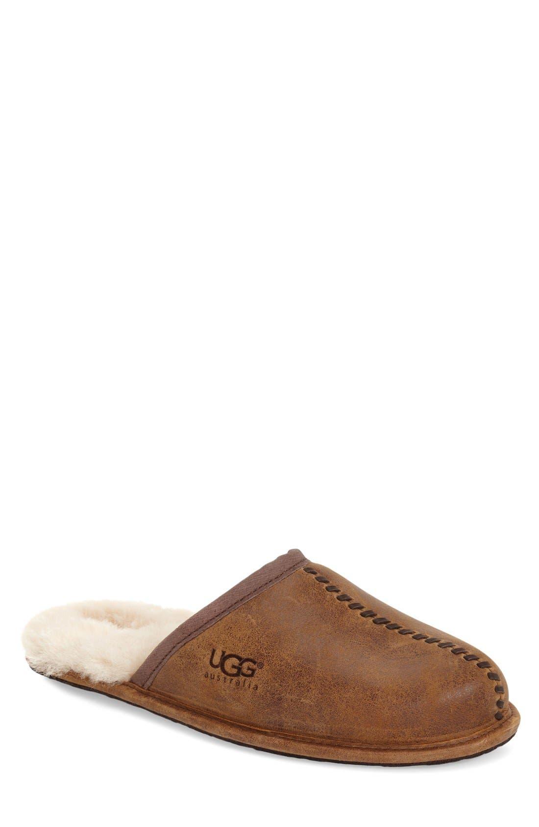 Main Image - UGG® Scuff - Deco Genuine Shearling Slipper (Men)