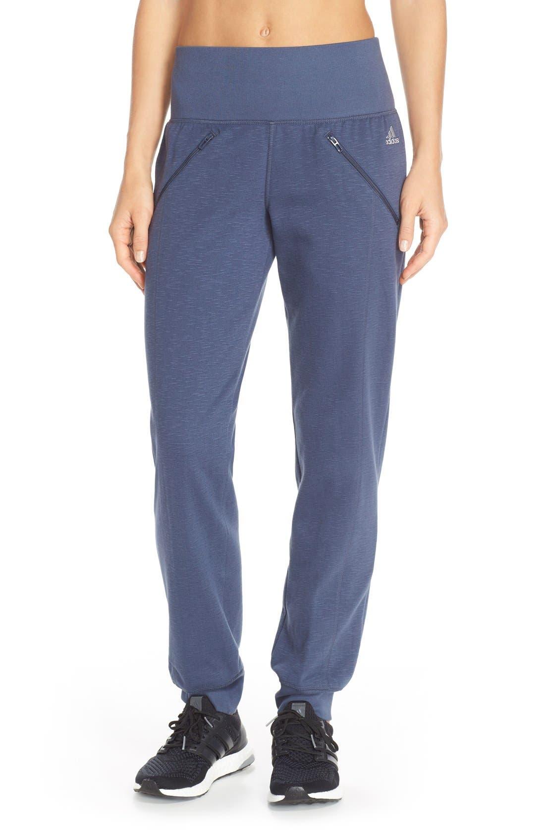 Alternate Image 1 Selected - adidas 'Cozy' Fleece Jogger Pants