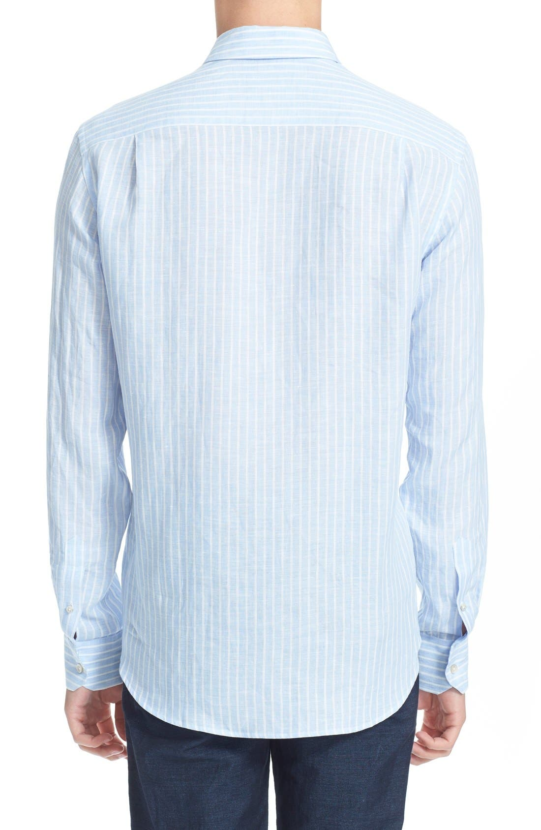 Alternate Image 3  - Vilebrequin 'Carrix' Trim Fit Stripe Linen Shirt