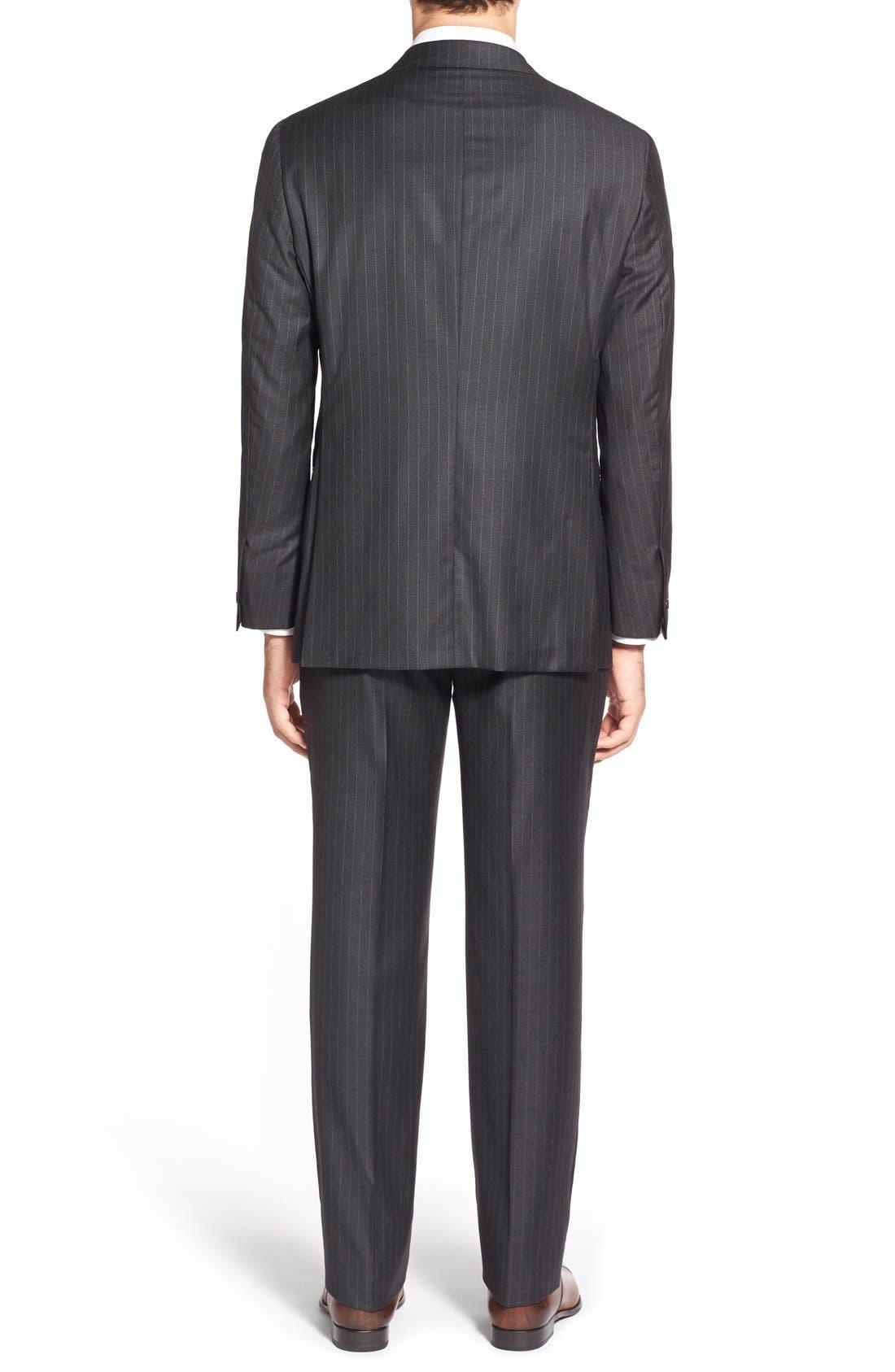 Alternate Image 2  - Hickey Freeman 'Beacon - B Series' Classic Fit Stripe Wool Suit
