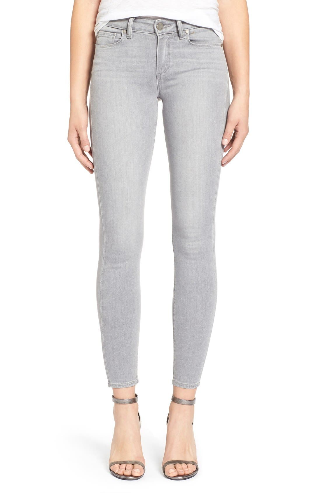 Main Image - Paige Denim 'Verdugo' Ankle Skinny Jeans (Dove Grey)