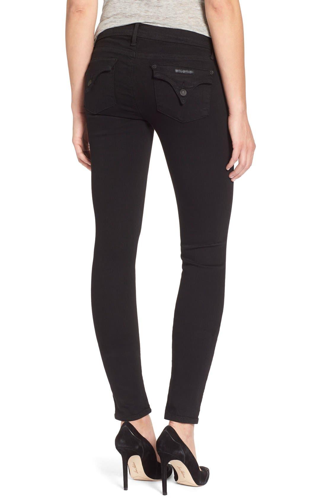Alternate Image 2  - Hudson Jeans 'Collin' Supermodel Skinny Jeans (Black) (Long)