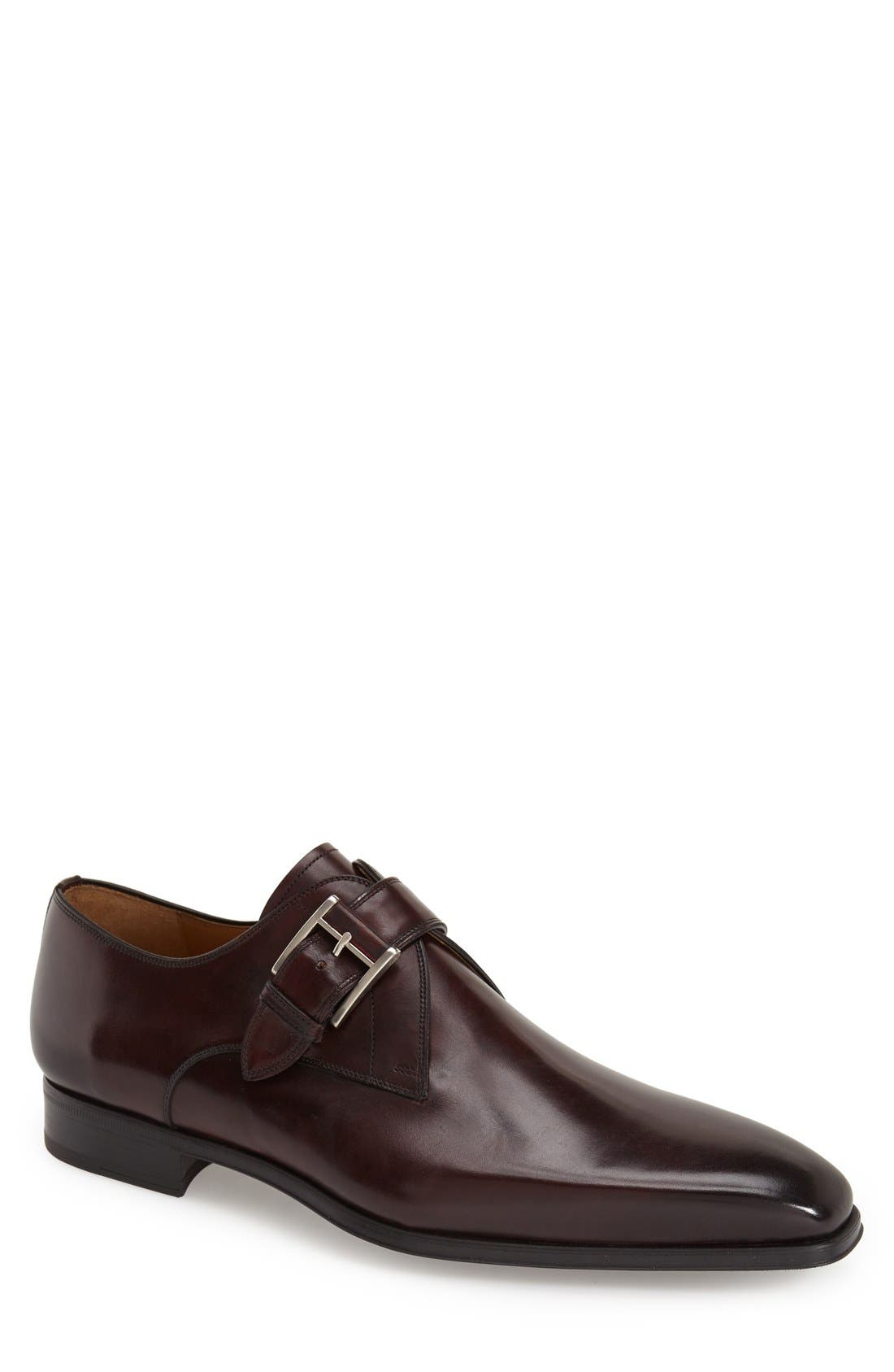 'Hugo' Monk Strap Slip-On,                             Main thumbnail 1, color,                             Burgundy