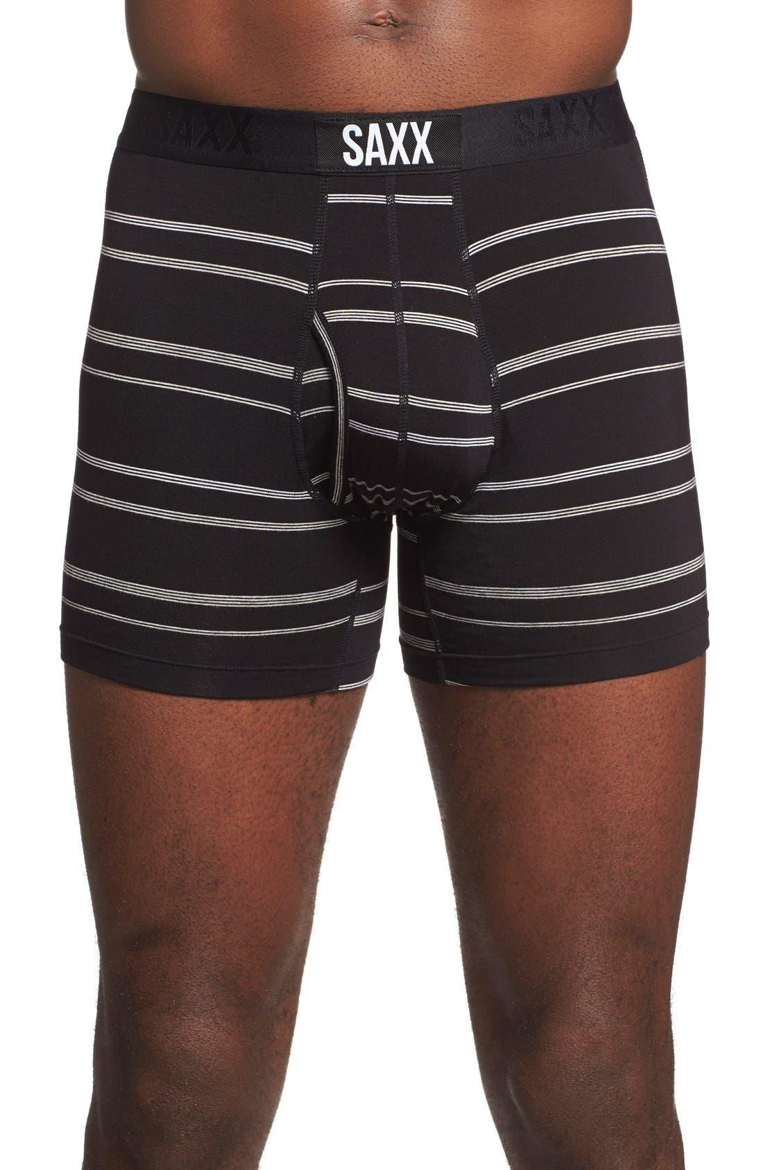 'Ultra' Stretch Boxer Briefs,                         Main,                         color, Chief Stripe Black