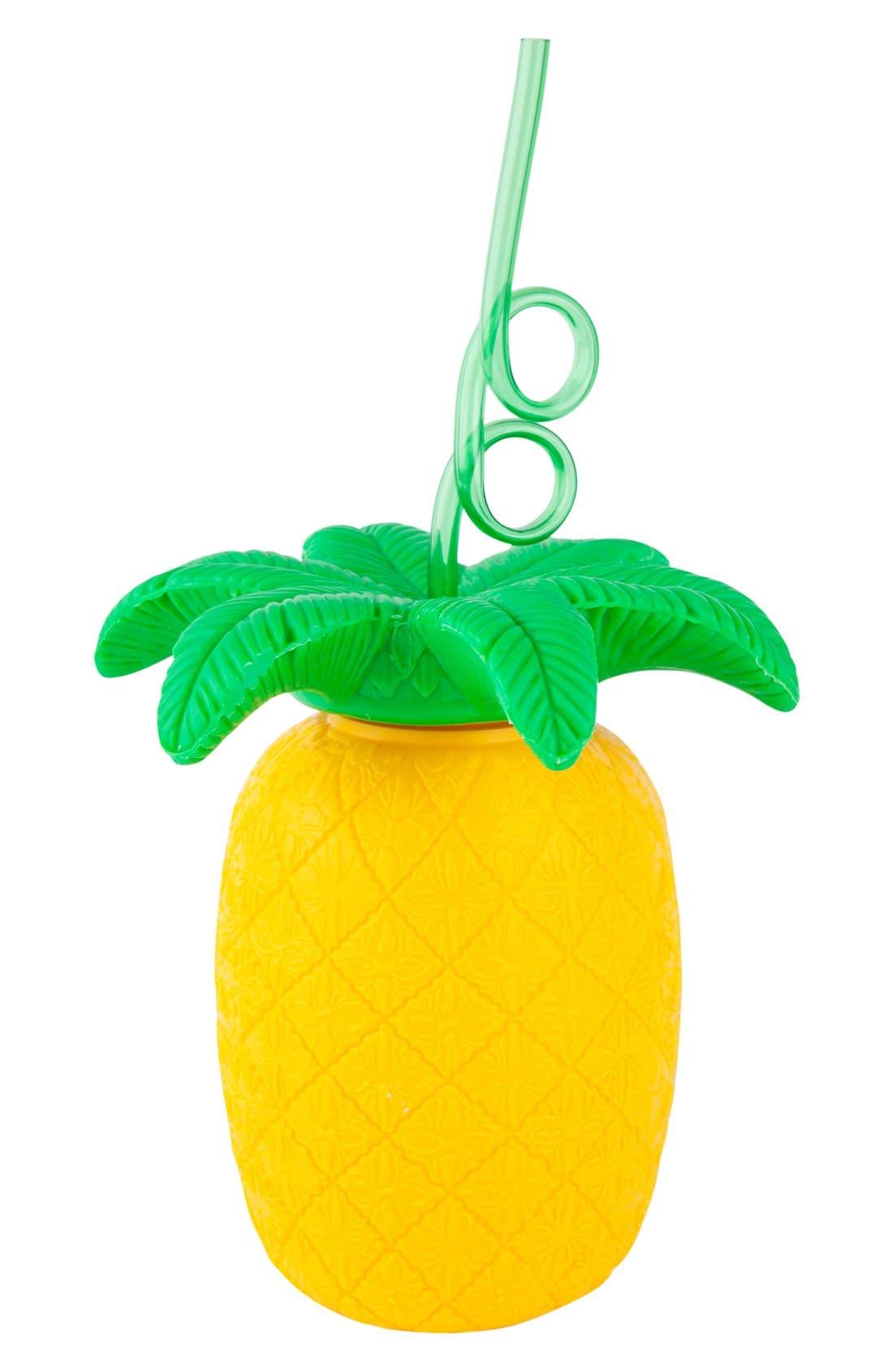 Main Image - Sunnylife Pineapple Cup & Straw