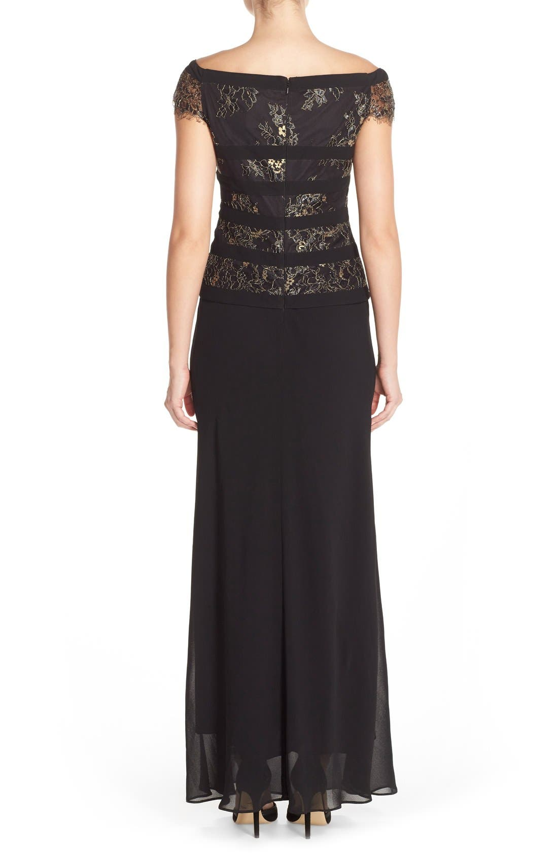 Alternate Image 5  - Alex Evenings Mock Dress (Regular & Petite)