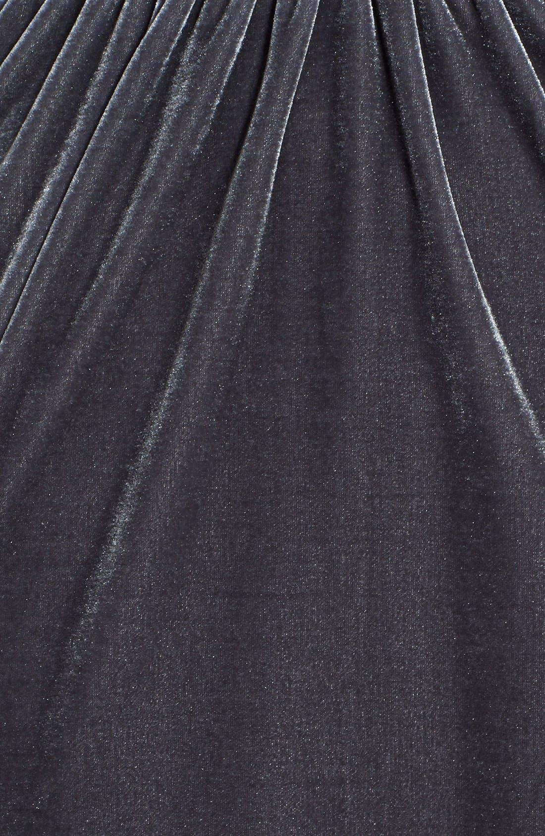 Alternate Image 5  - dee elle Cutout Surplice Velvet Skater Dress