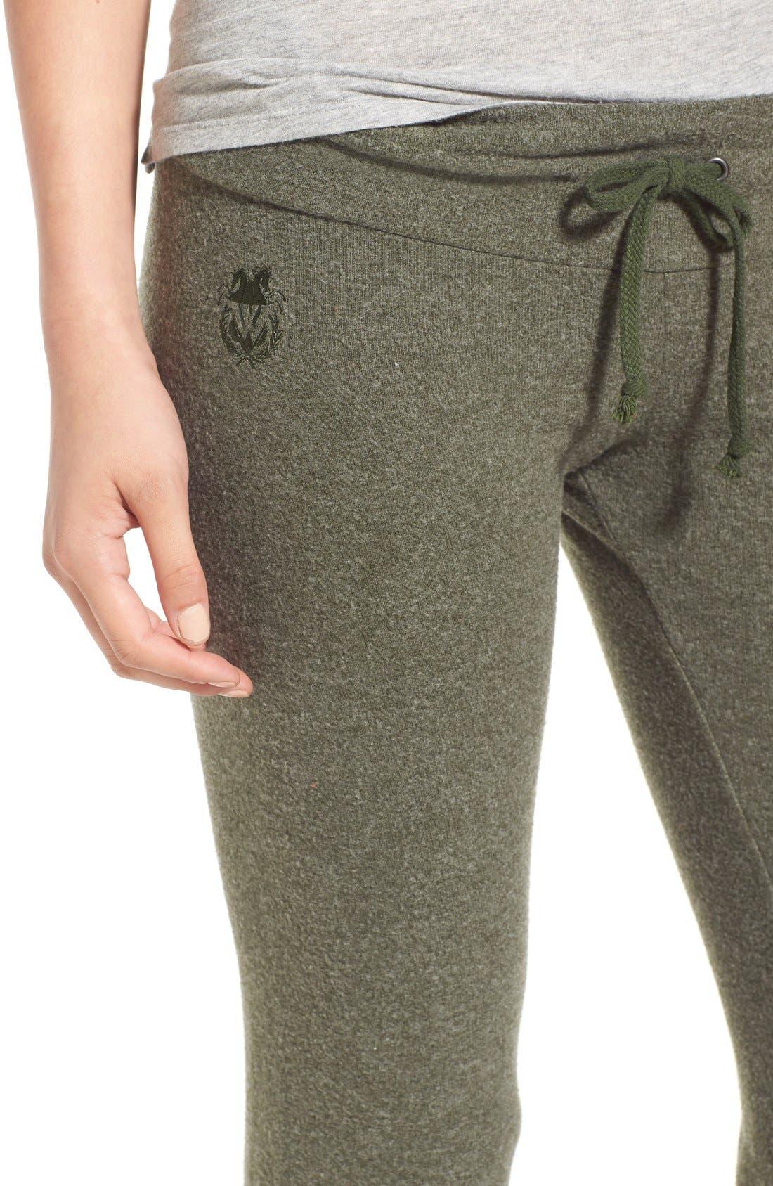 Alternate Image 4  - Wildfox 'Basics - Malibu' Skinny Jogging Pants
