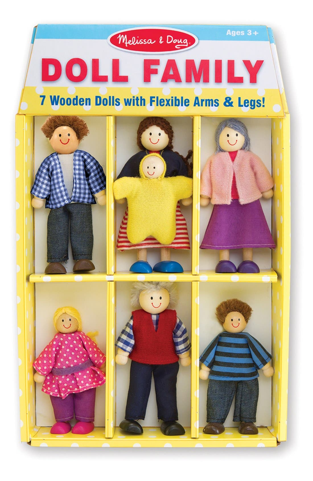 Melissa & Doug Doll Family (Set of 7)