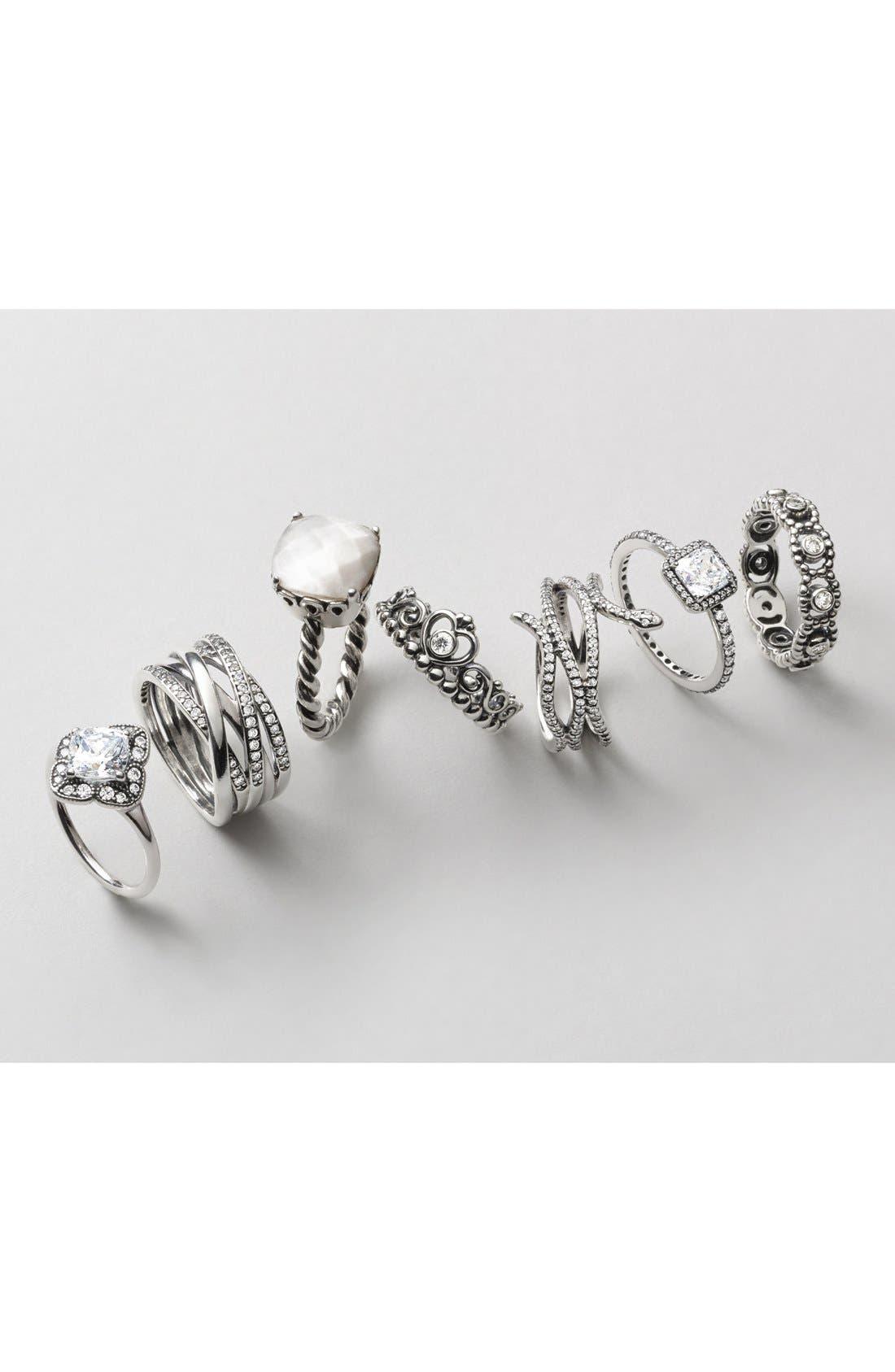 Alternate Image 2  - PANDORA 'Floral Fancy' Ring