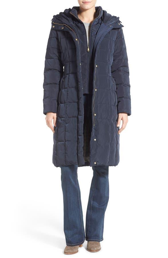 Cole Haan Bib Insert Down & Feather Fill Coat (Regular & Petite ...