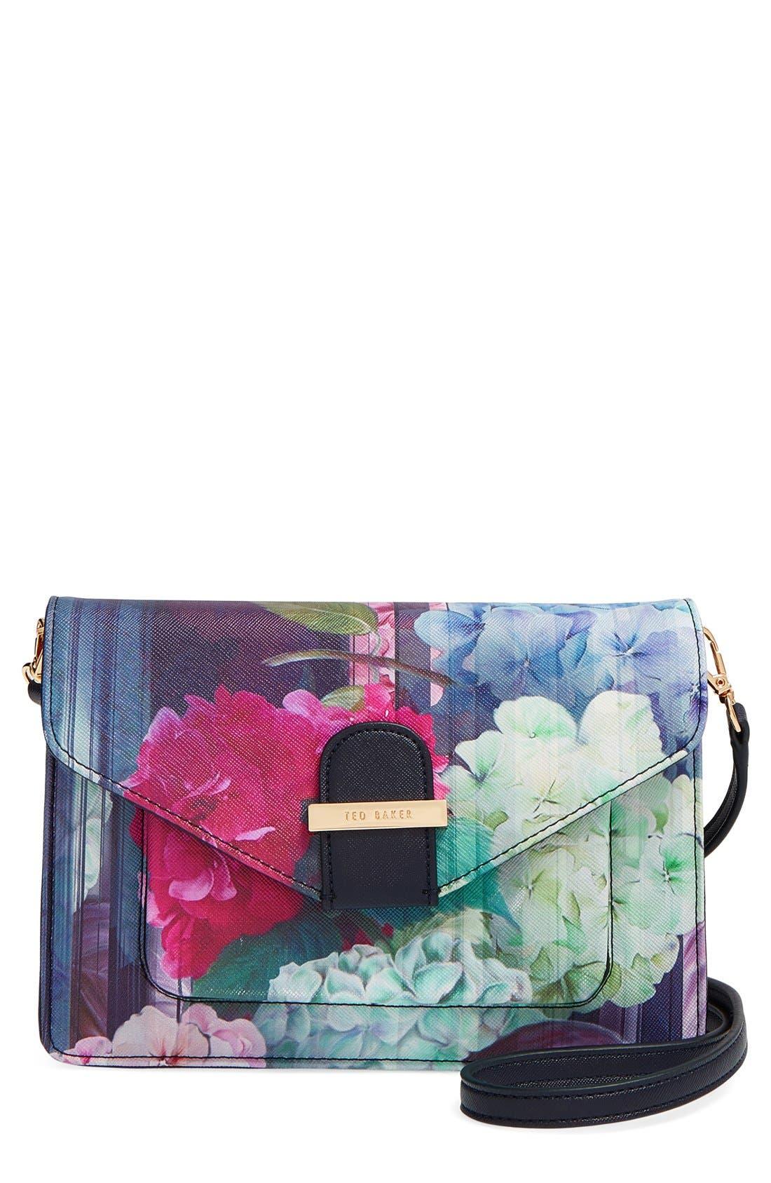 Alternate Image 1 Selected - Ted Baker London 'Hydrangea' Floral Print Crossbody Bag