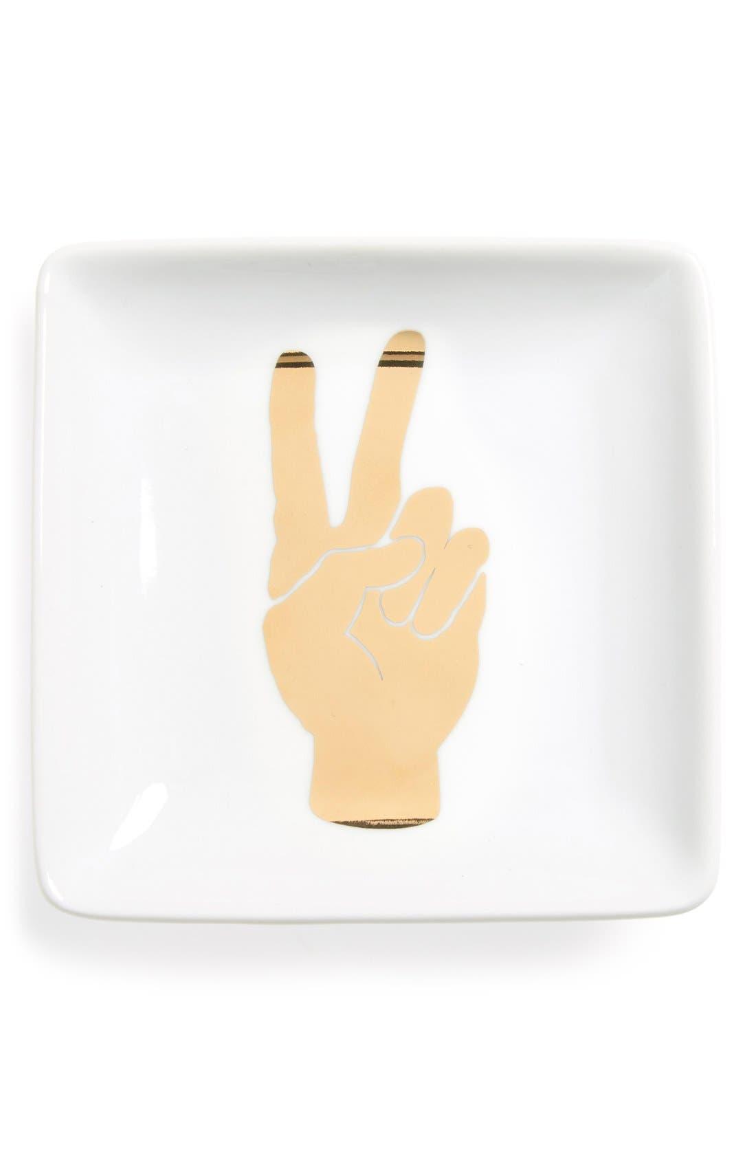 Main Image - Fringe Studio 'Peace Hand' Ceramic Trinket Tray