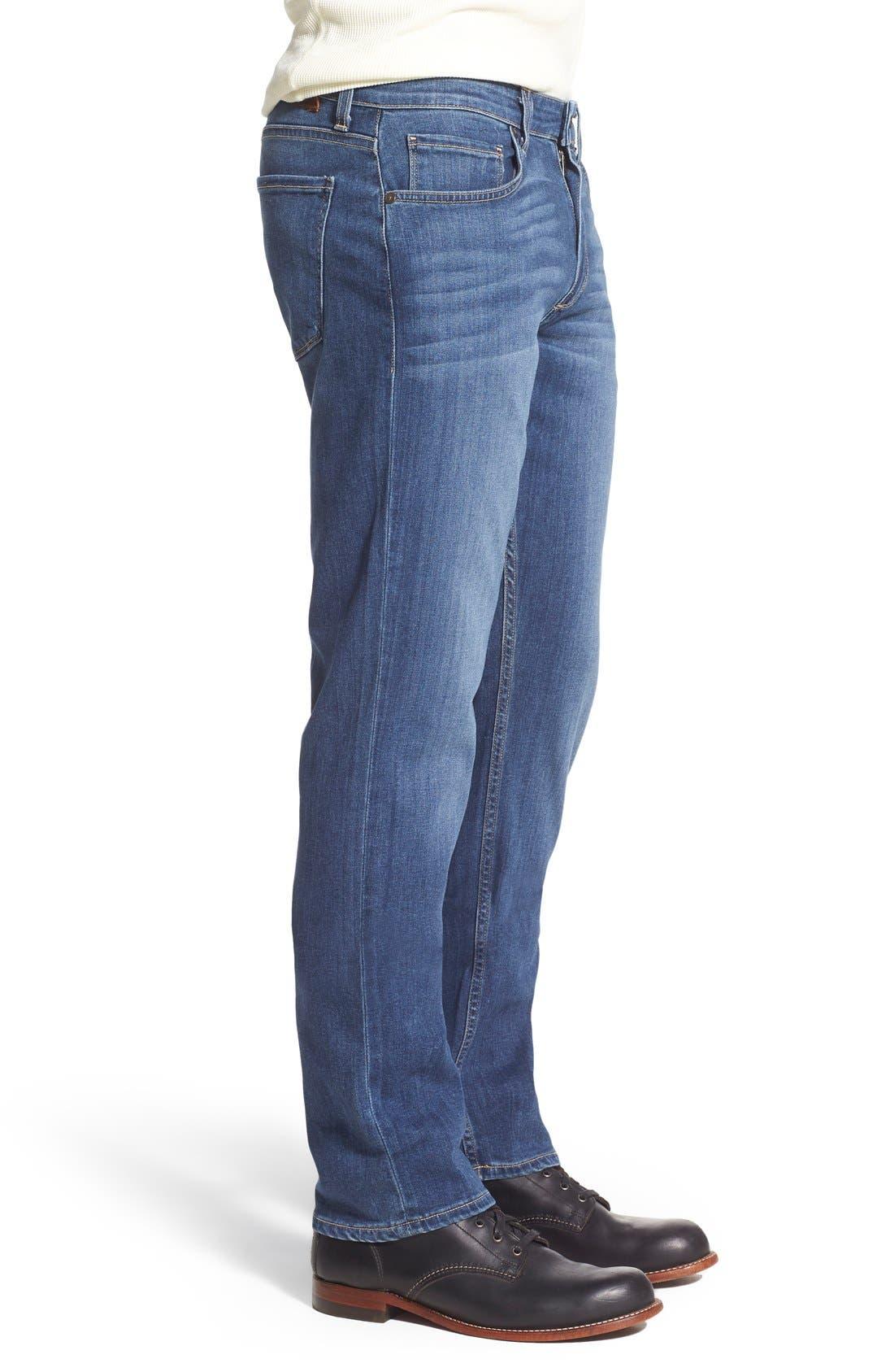 Transcend - Lennox Straight Leg Jeans,                             Alternate thumbnail 3, color,                             Birch