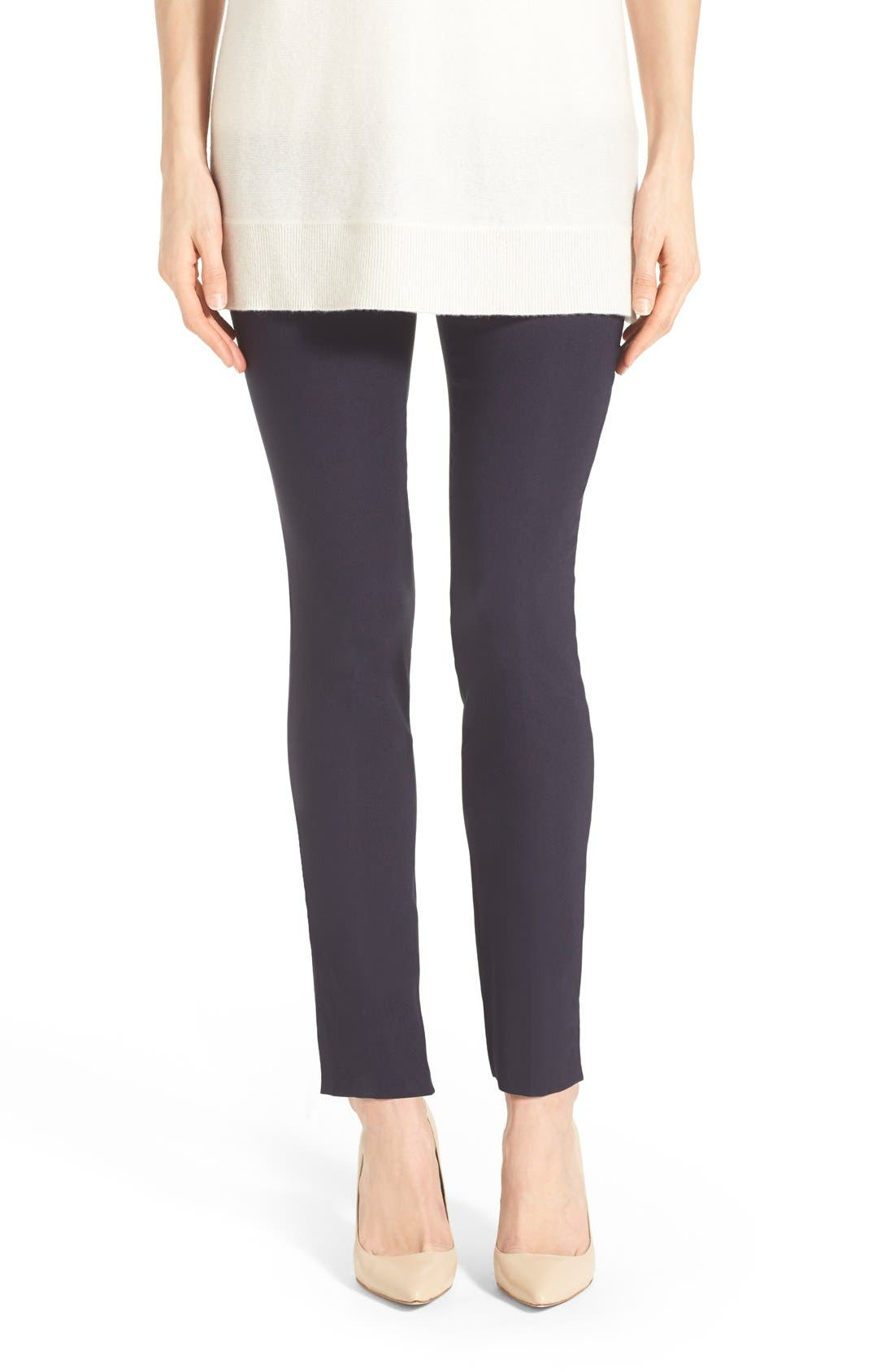 'The Wonder Stretch' Slim Leg Pants,                             Main thumbnail 1, color,                             Midnight