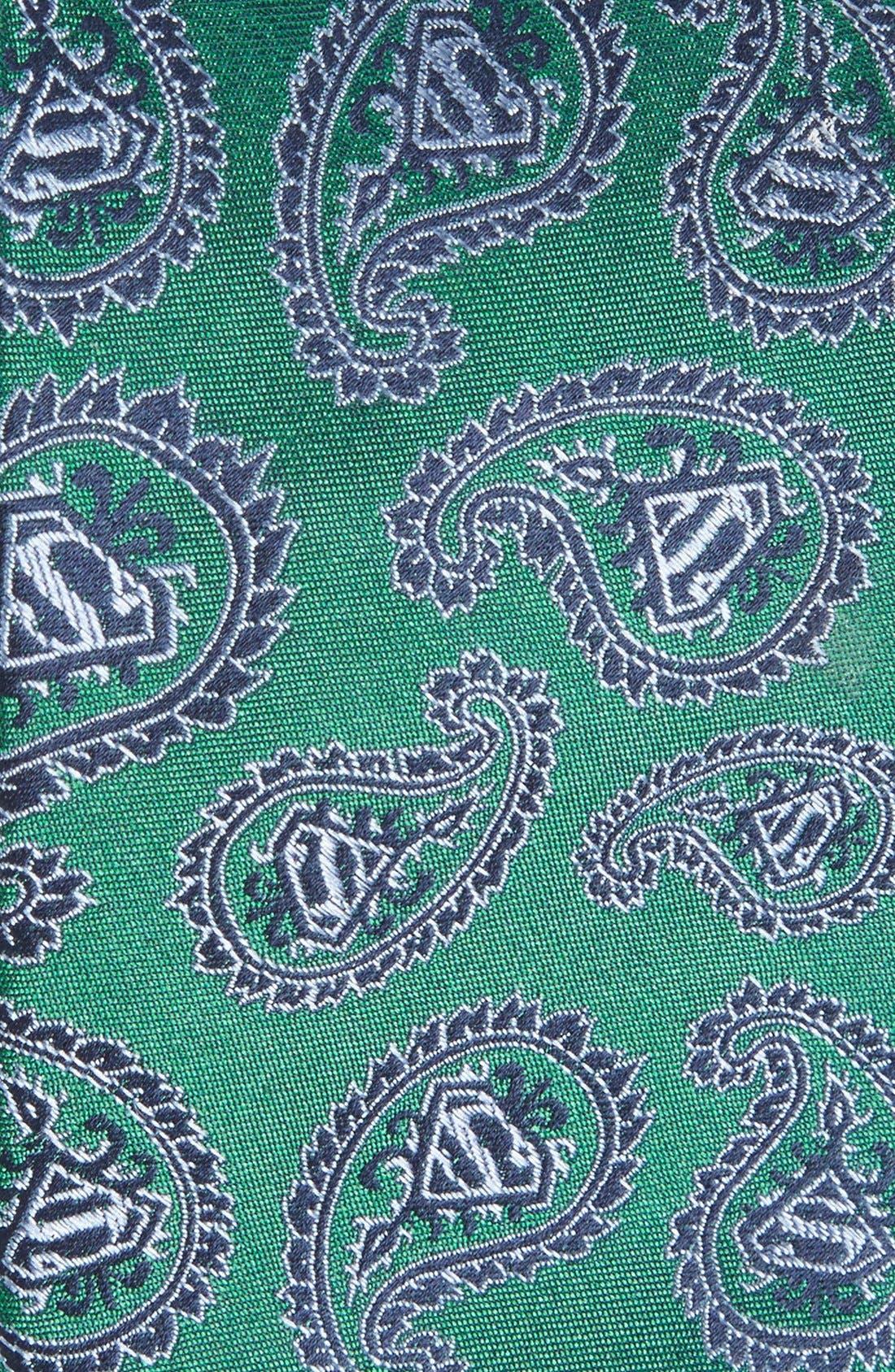 'Superman' Paisley Silk Tie,                             Alternate thumbnail 2, color,                             Green