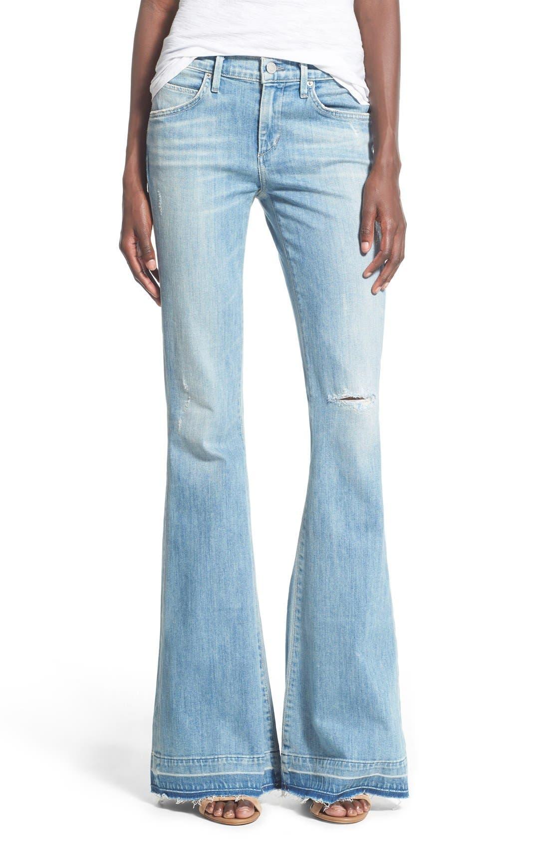 Main Image - A Gold E 'Madison' Ultra Flare Jeans (Blue Lagoon)
