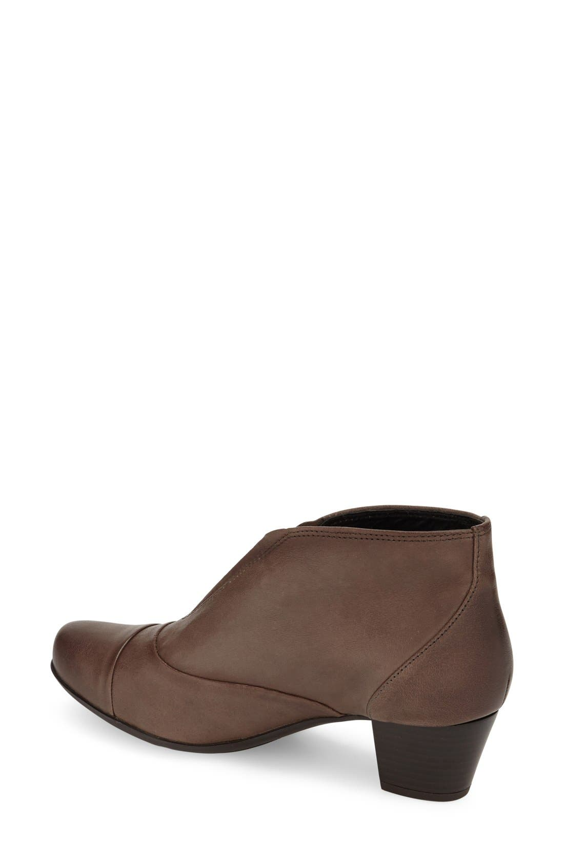 'Maddie' Bootie,                             Alternate thumbnail 2, color,                             Dark Taupe Nappa