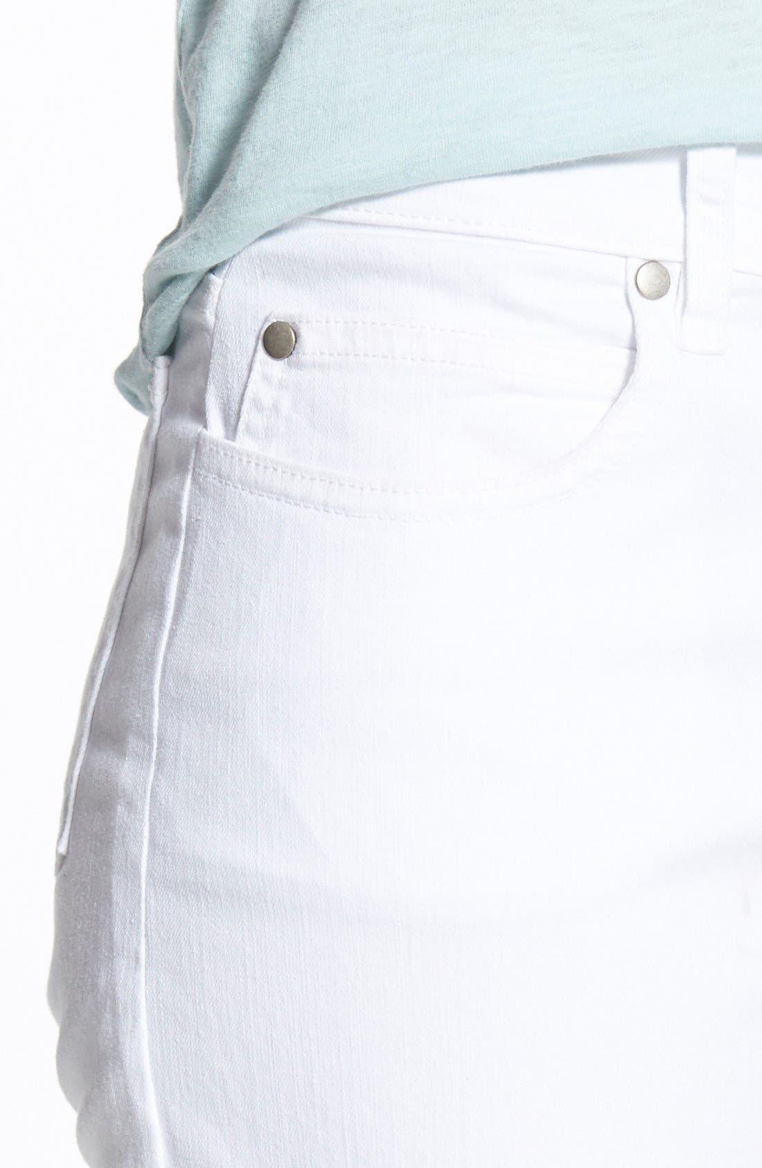 Stretch Organic Cotton Skinny Jeans,                             Alternate thumbnail 5, color,                             White
