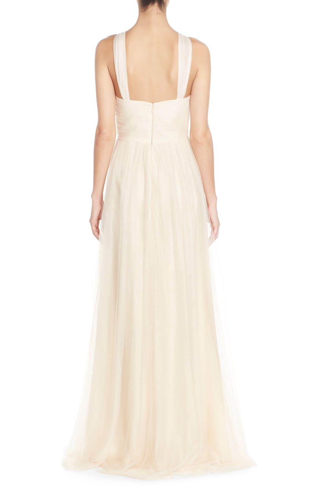 Alternate Image 2  - Donna Morgan 'Ava' Halter Style Mesh A-Line Gown