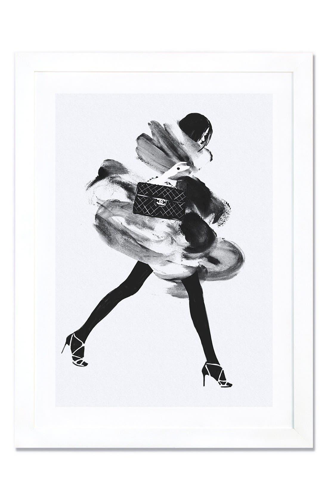 Alternate Image 1 Selected - iCanvas 'Running Late' Framed Fine Art Print