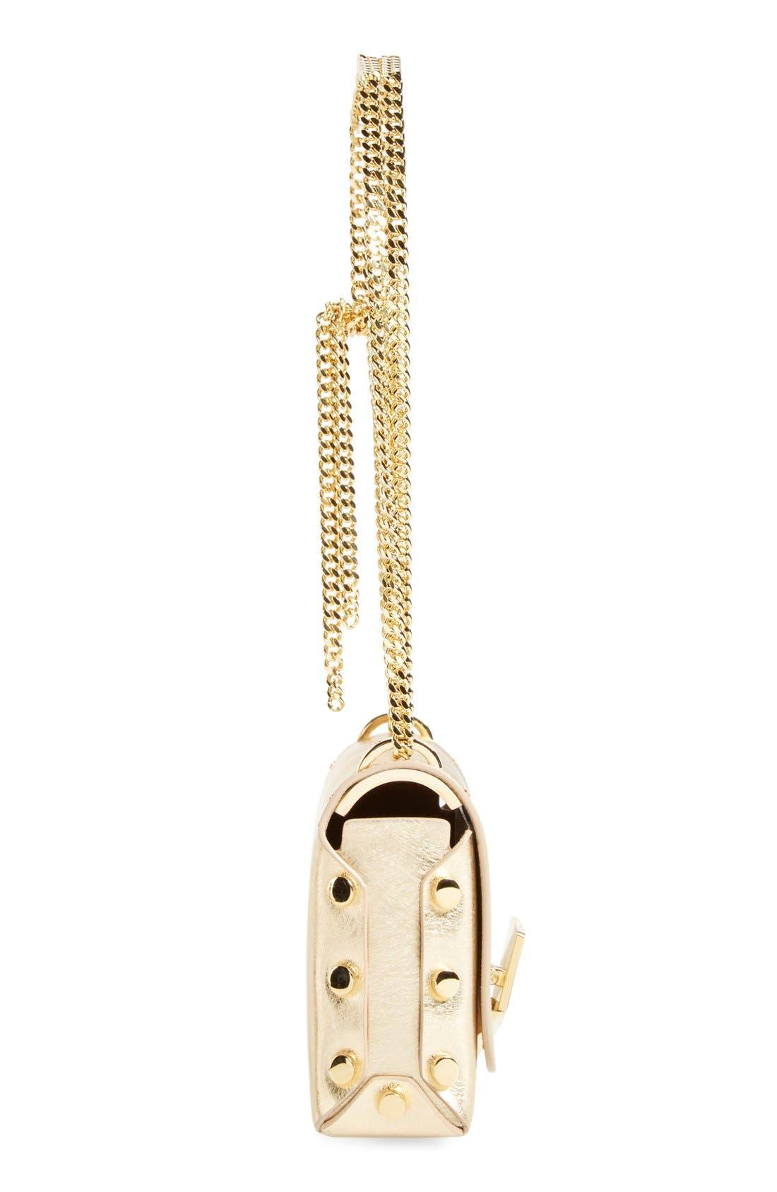 Alternate Image 4  - Jimmy Choo 'Lockett Petite' Metallic Leather Shoulder Bag