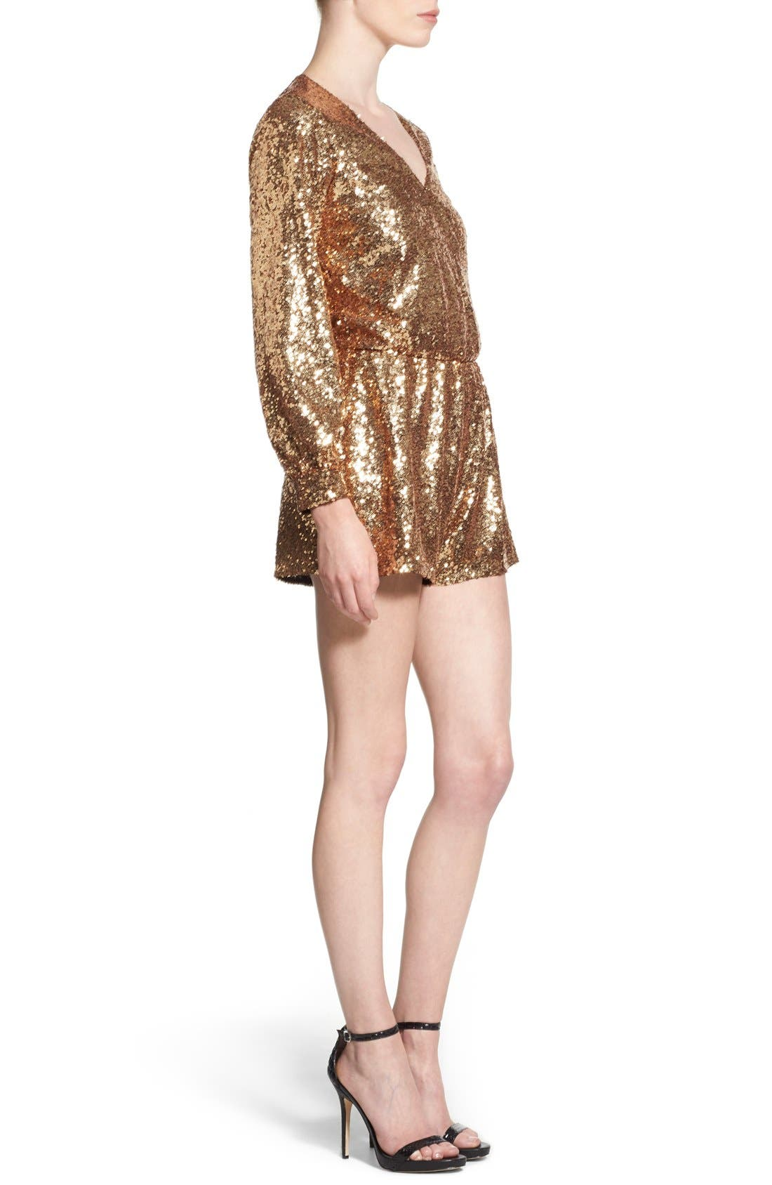 Alternate Image 3  - 4SI3NNA Sequin Romper