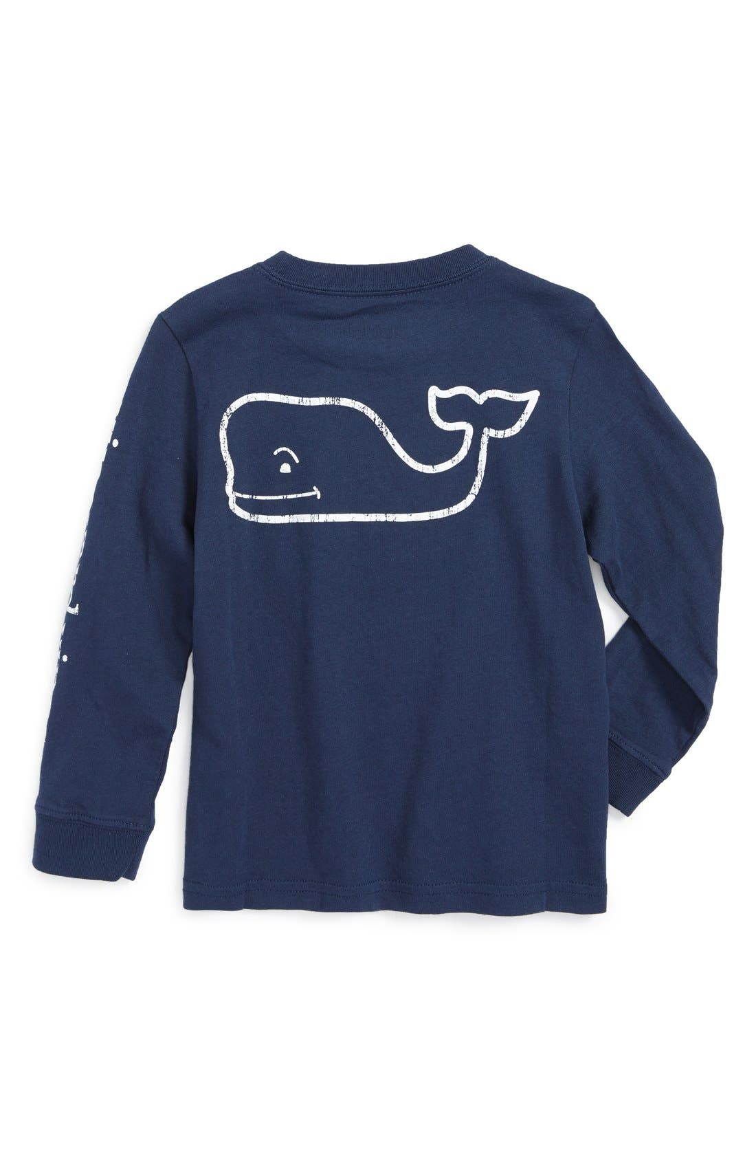 Alternate Image 2  - vineyard vines Vintage Whale Graphic Long Sleeve T-Shirt (Toddler Boys & Little Boys)