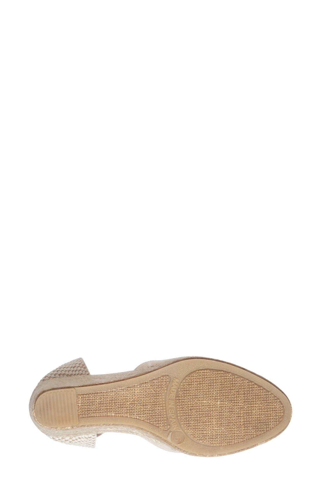 Wedge Lace-Up Espadrille Sandal,                             Alternate thumbnail 4, color,                             Blush Linen