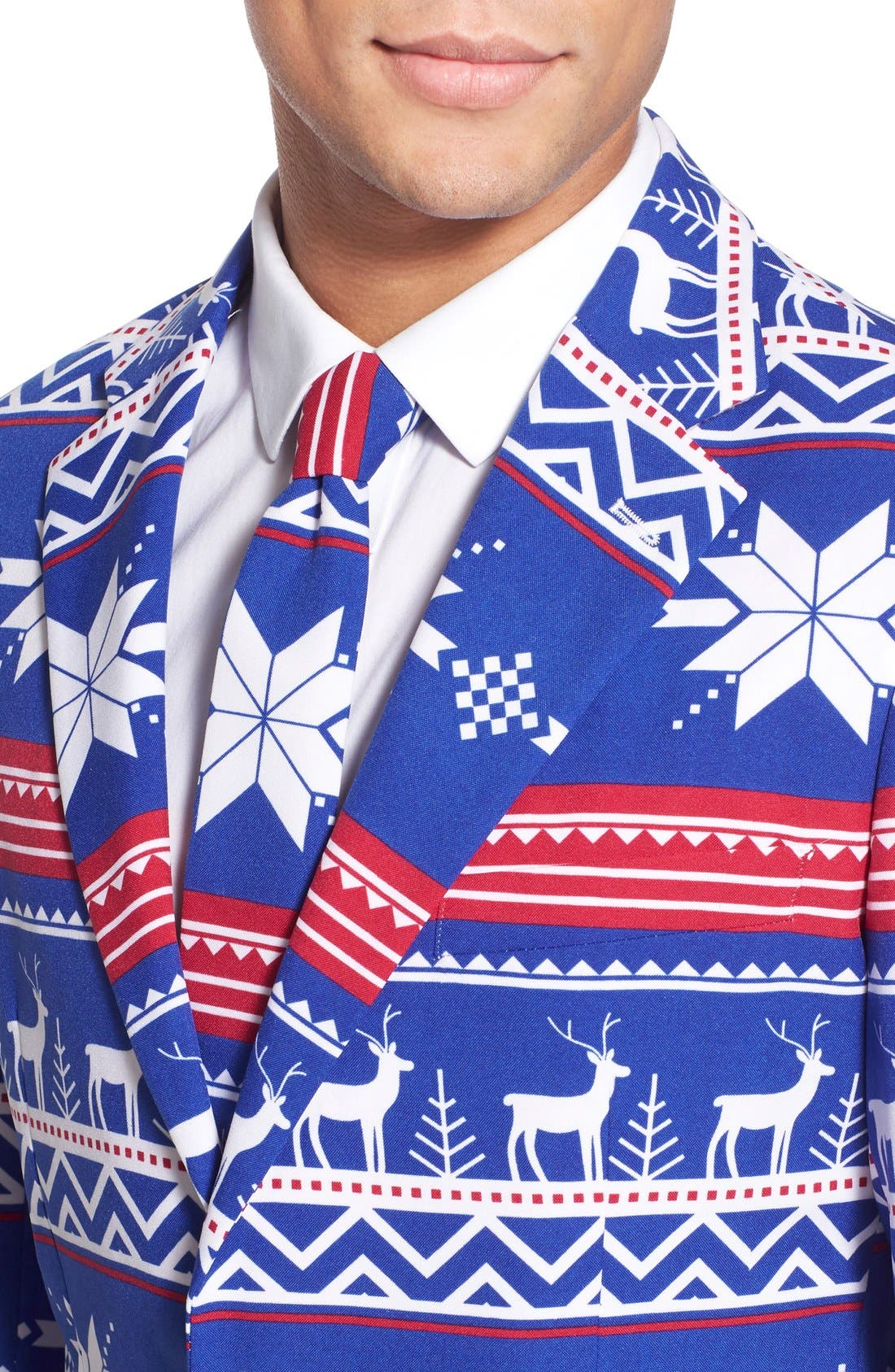 'Rudolph' Holiday Suit & Tie,                             Alternate thumbnail 6, color,                             Blue