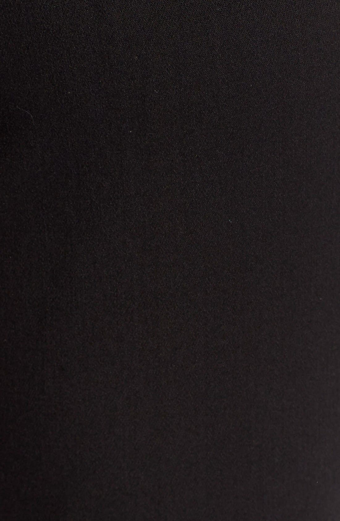 'Clarissa' Stretch Ankle Skinny Jeans,                             Alternate thumbnail 5, color,                             Black Garment Wash