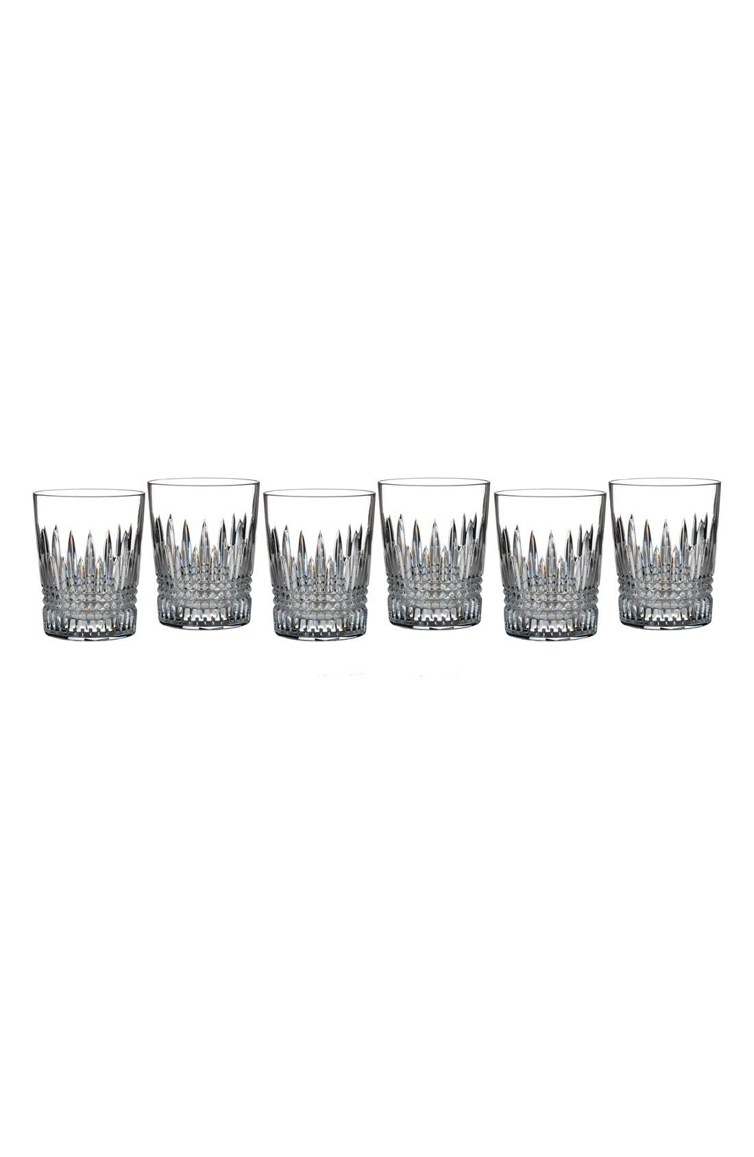 'Lismore Diamond' Lead Crystal Double Old Fashioned Glasses,                         Main,                         color, Clear