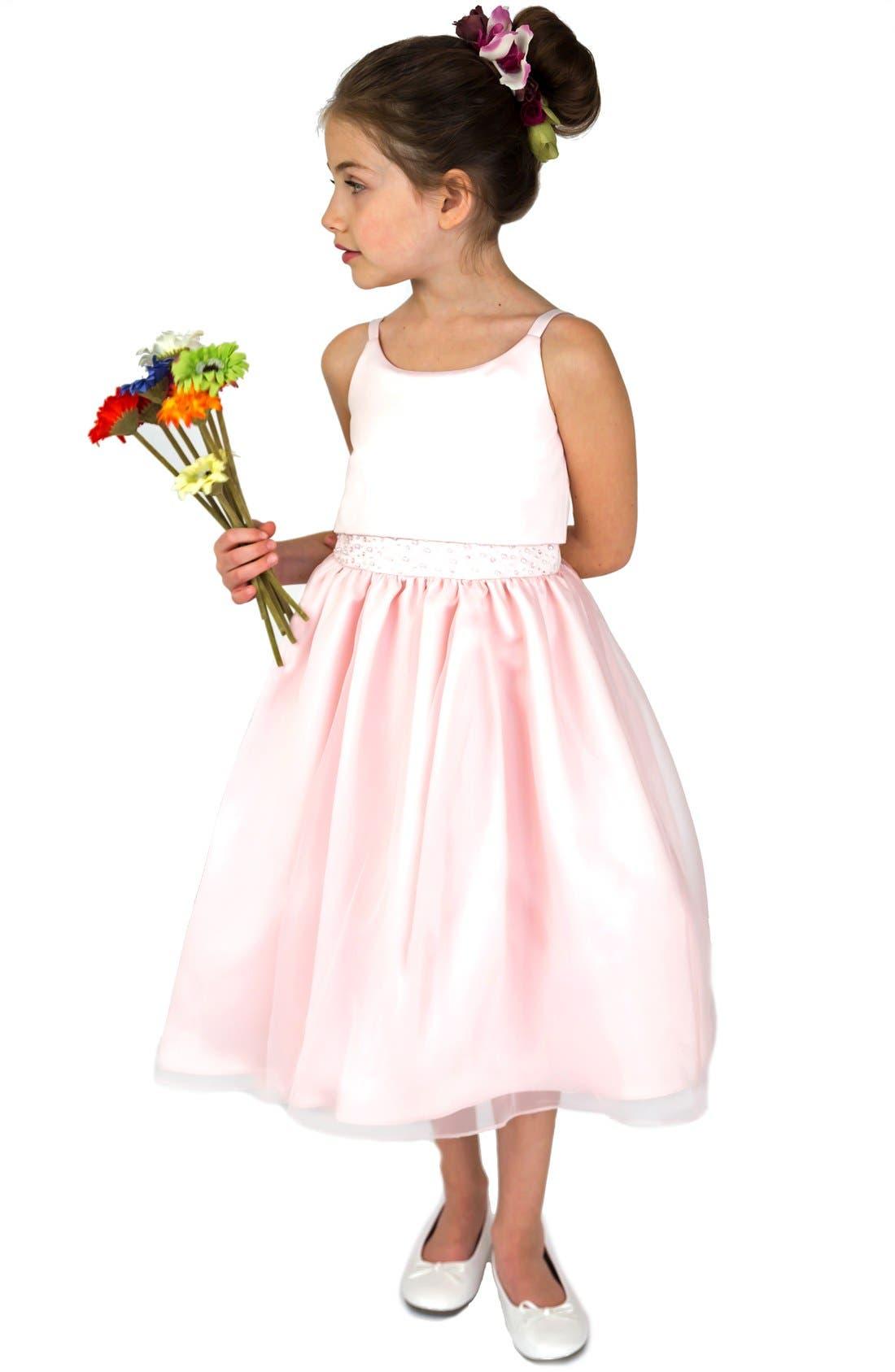 Alternate Image 1 Selected - Us Angels Popover Dress (Little Girls & Big Girls)
