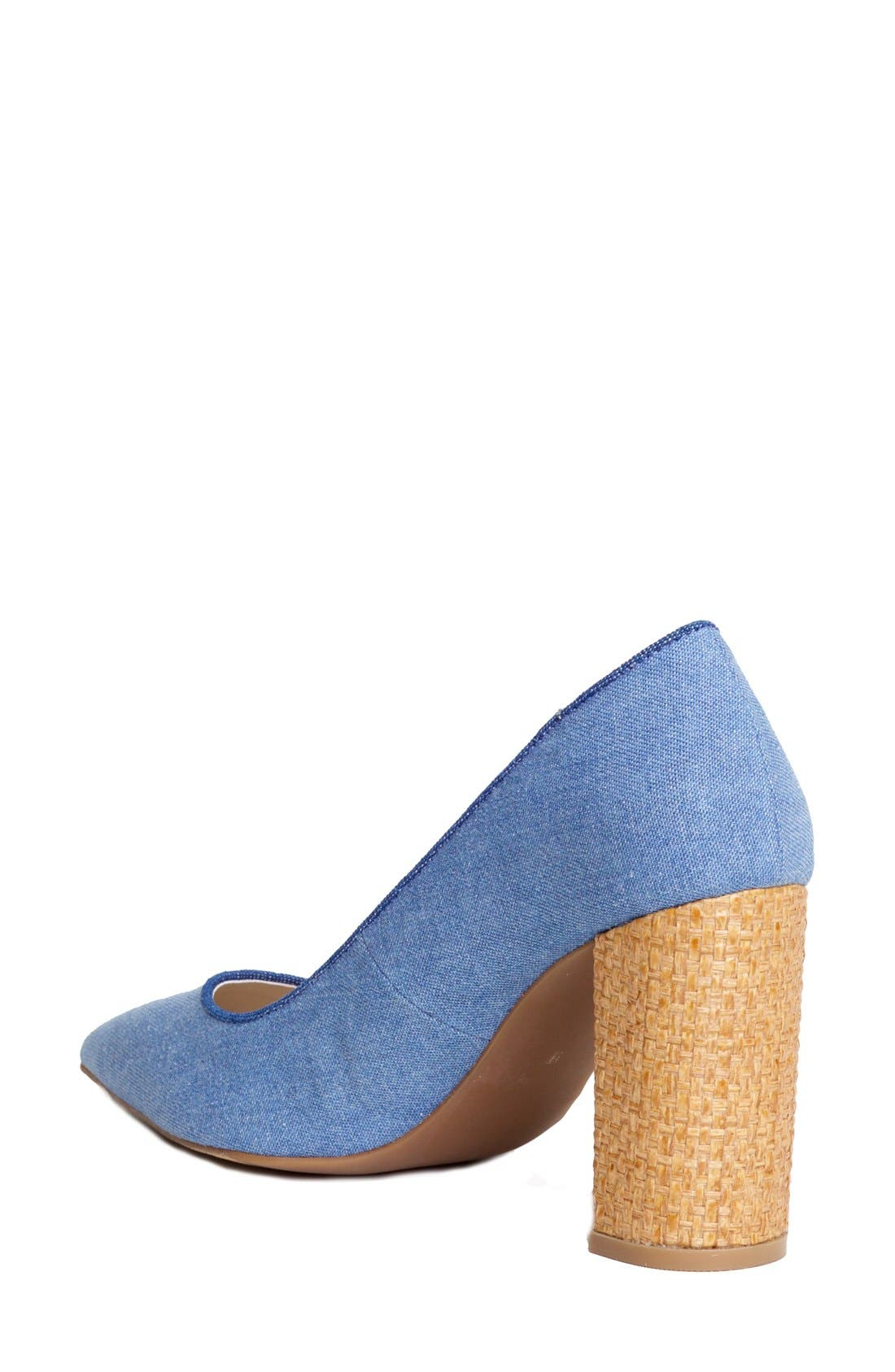 'OMG' Pointy Toe Pump,                             Alternate thumbnail 2, color,                             Light Blue