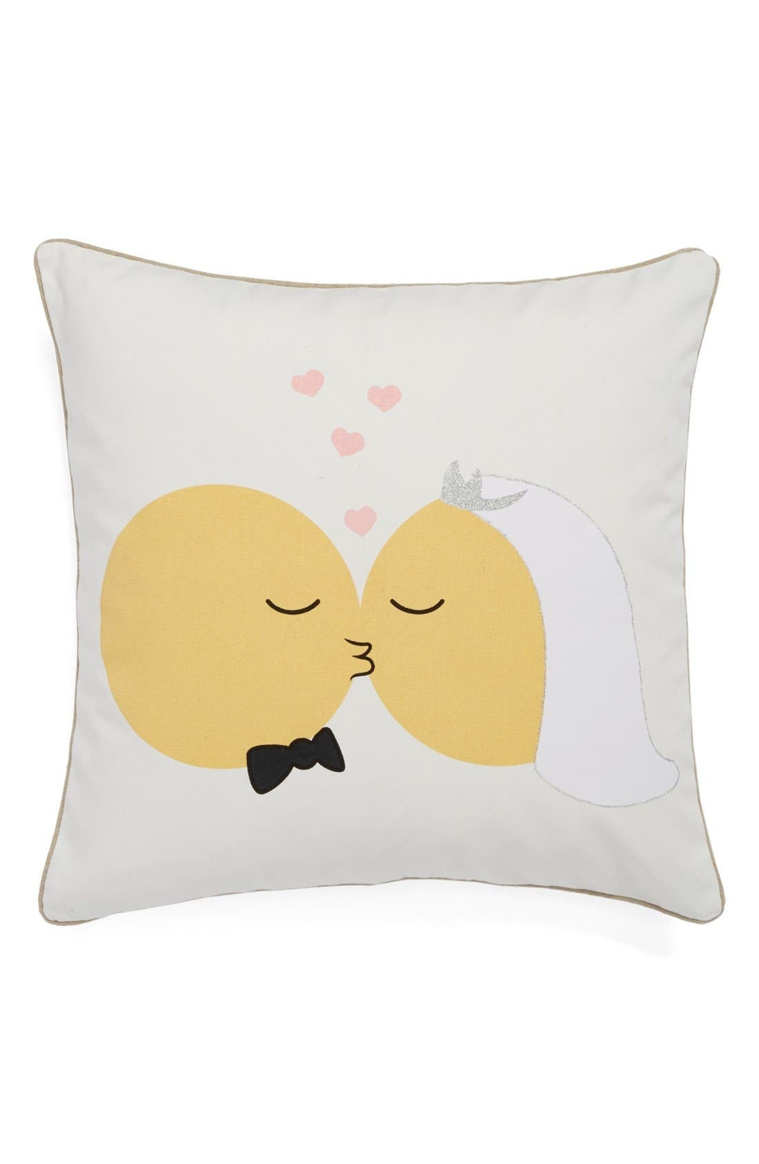 Alternate Image 1 Selected - Levtex 'Married Emoji' Pillow