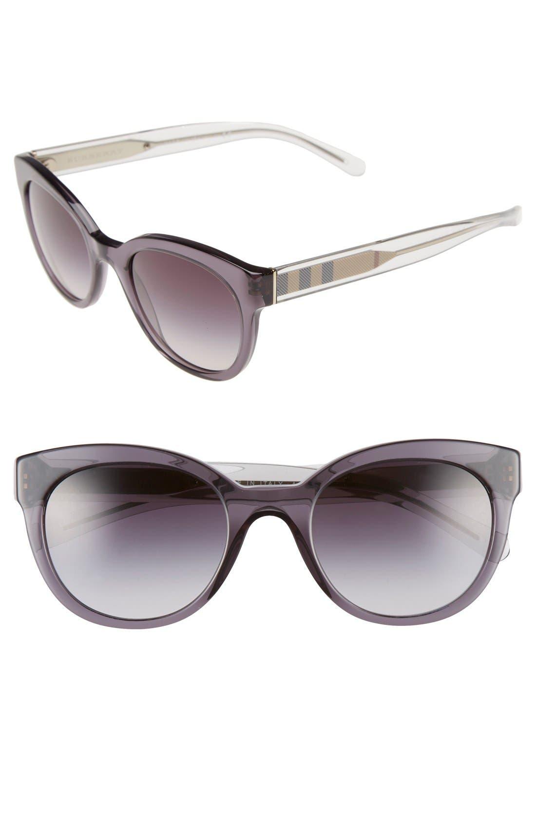 Alternate Image 1 Selected - Burberry 52mm Retro Sunglasses