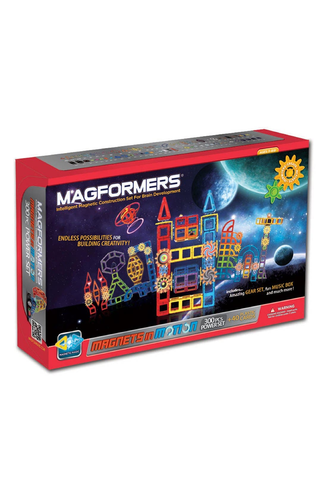 Alternate Image 1 Selected - Magformers 'Magnets in Motion' Power Set (300-Piece)