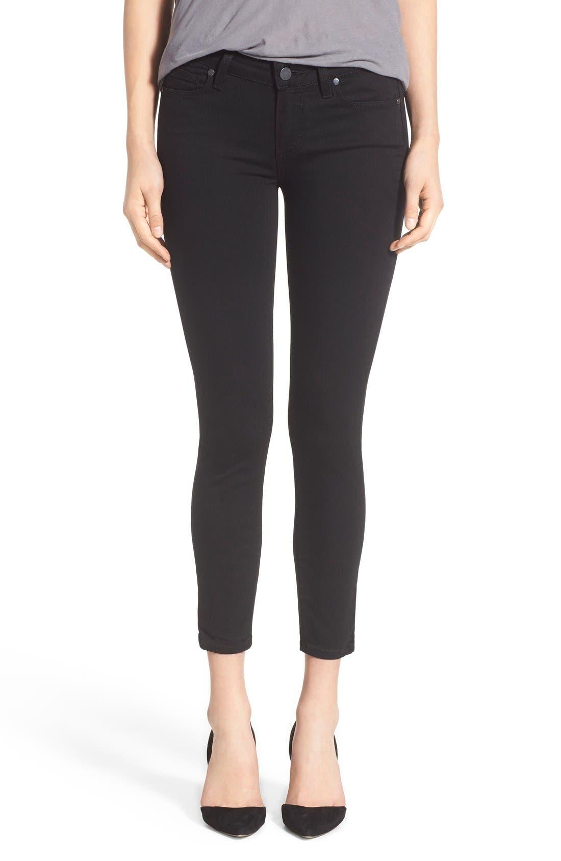 Transcend - Verdugo Crop Skinny Jeans,                         Main,                         color, Black